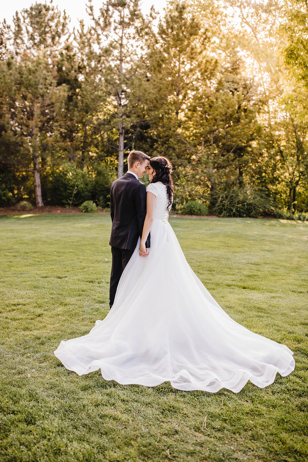 formal photographer session in salt lake city utah bridals bride and groom lds couple romantic