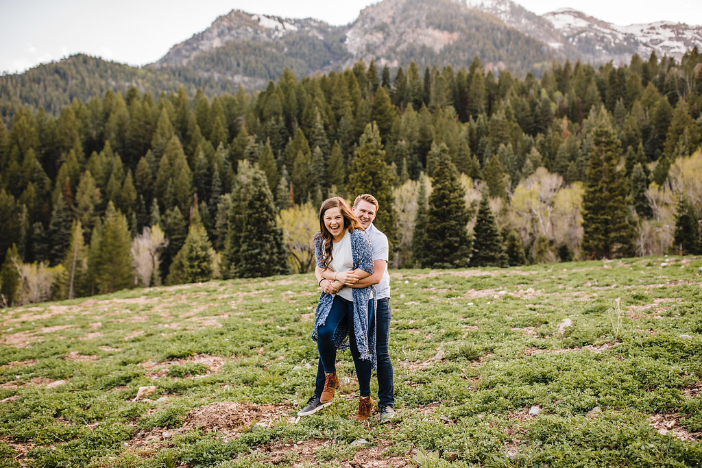 mountain engagement session northern utah engagement photographer logan ut engagement photography forests