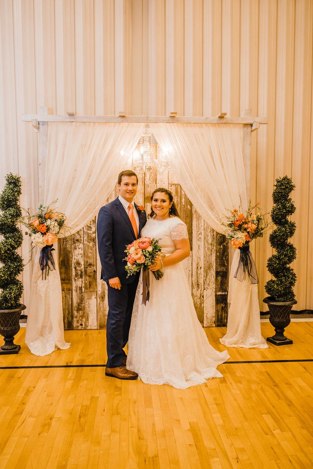 brigham city utah wedding photographer reception photos greet the bride and groom lds church reception