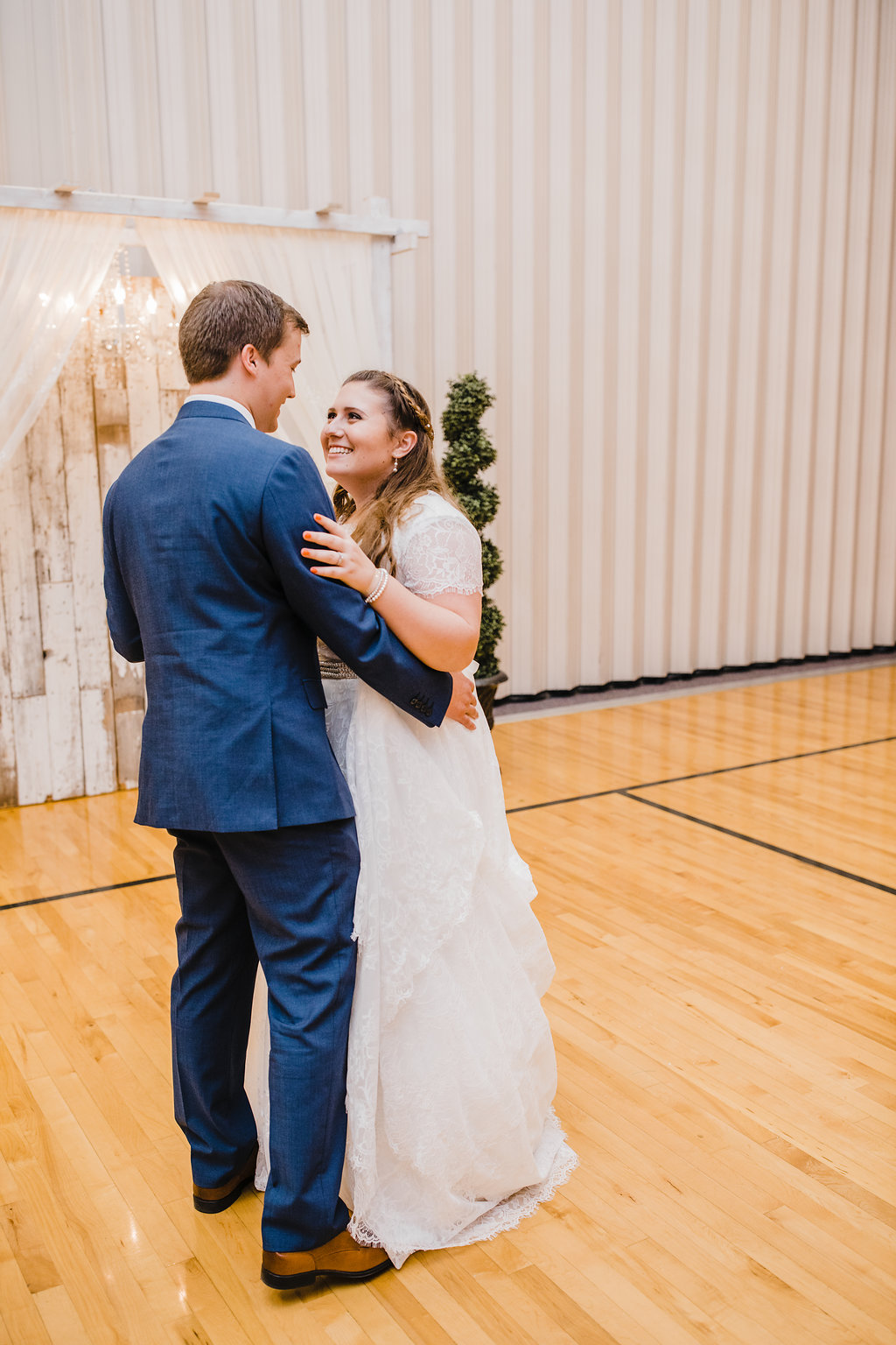 lds church reception bride and groom first dance calli richards wedding photography in brigham city utah