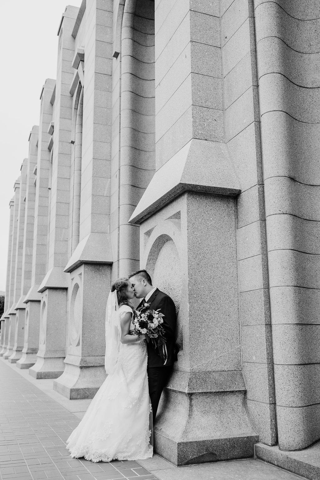 professional wedding photographer black and white salt lake lds temple northern utah wedding day photos calli richards