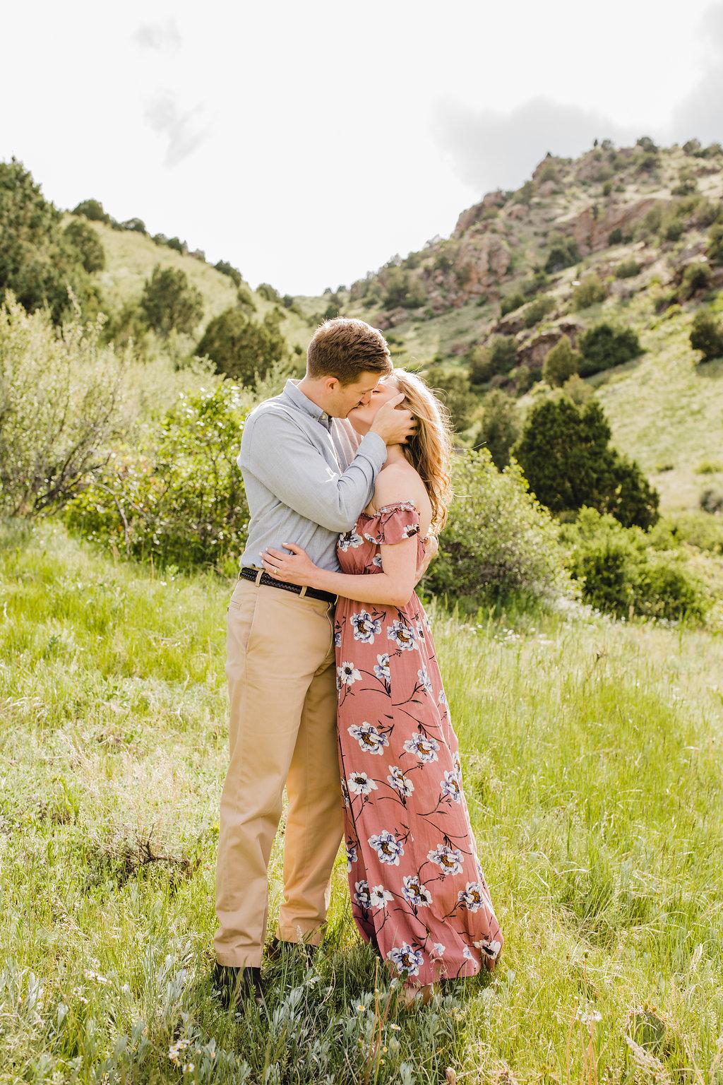 romantic engagement photography colorado