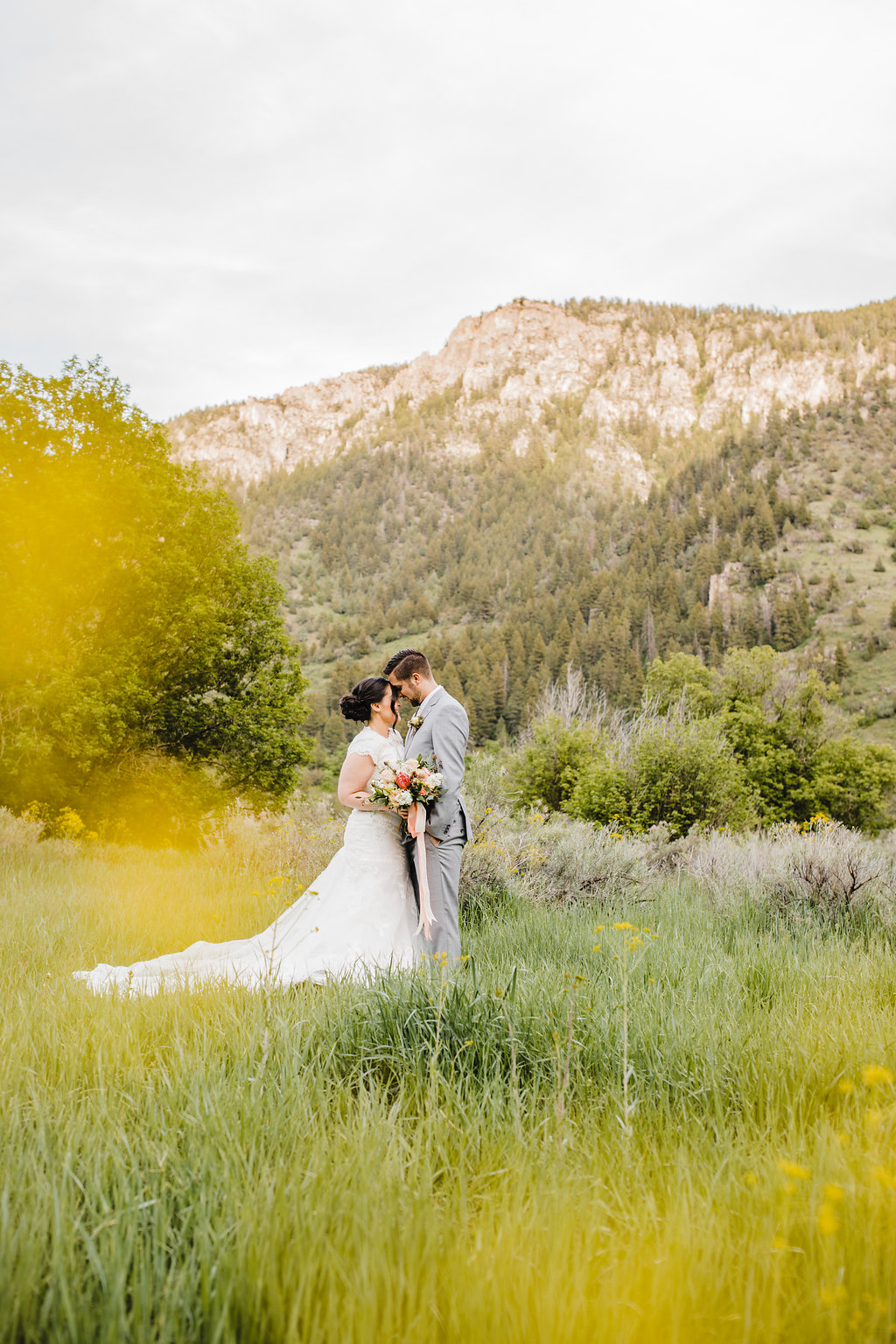 sunset wedding photography bride and groom formals