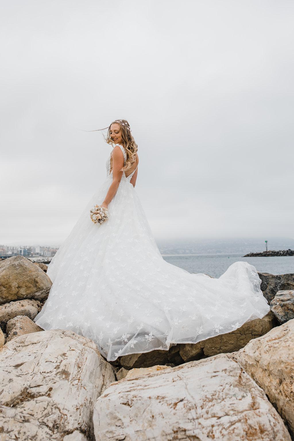 los angeles beach wedding day photography bride formals
