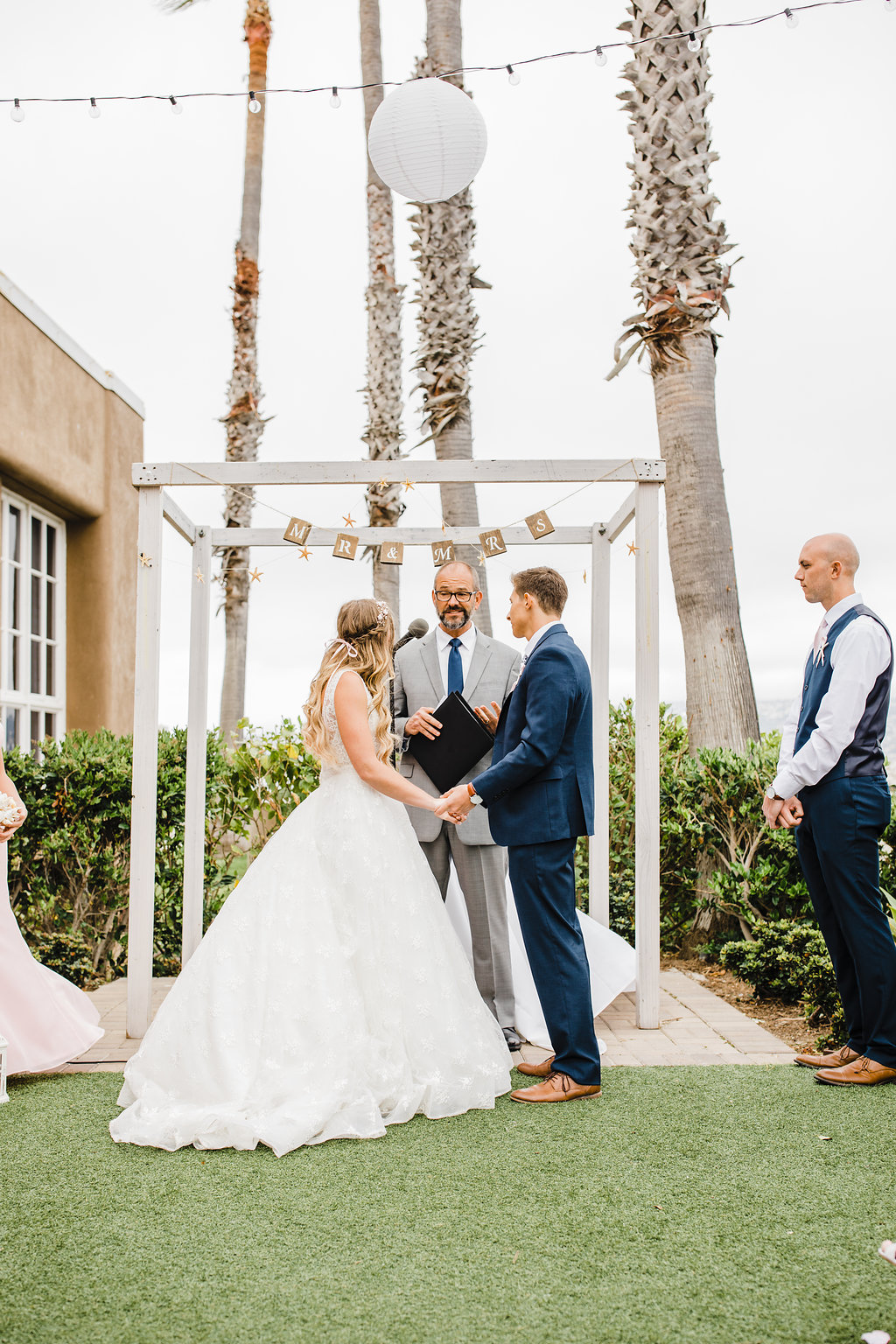 bride and groom wedding ceremony mr and mrs los angeles california wedding photography