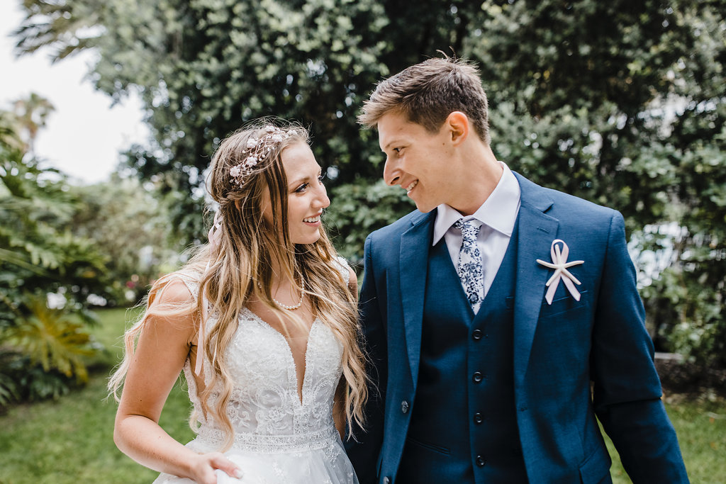 bride and groom after ceremony los angeles california professional wedding photography