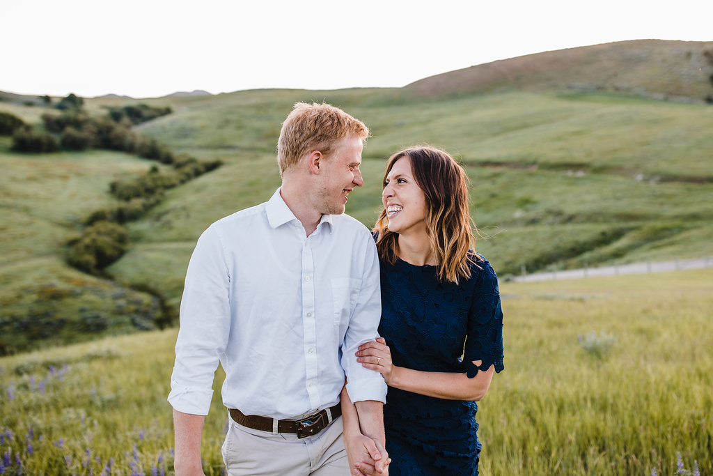 professional engagement photos green fields ring shot wedding photographer calli richards cache valley utah