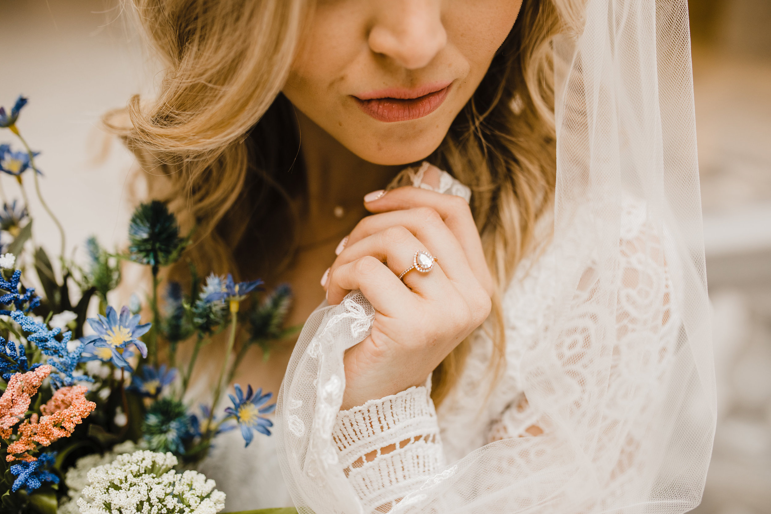 best wedding photographer in westminister colorado wildflower bouquet wedding bridals lace wedding dress delicate lace