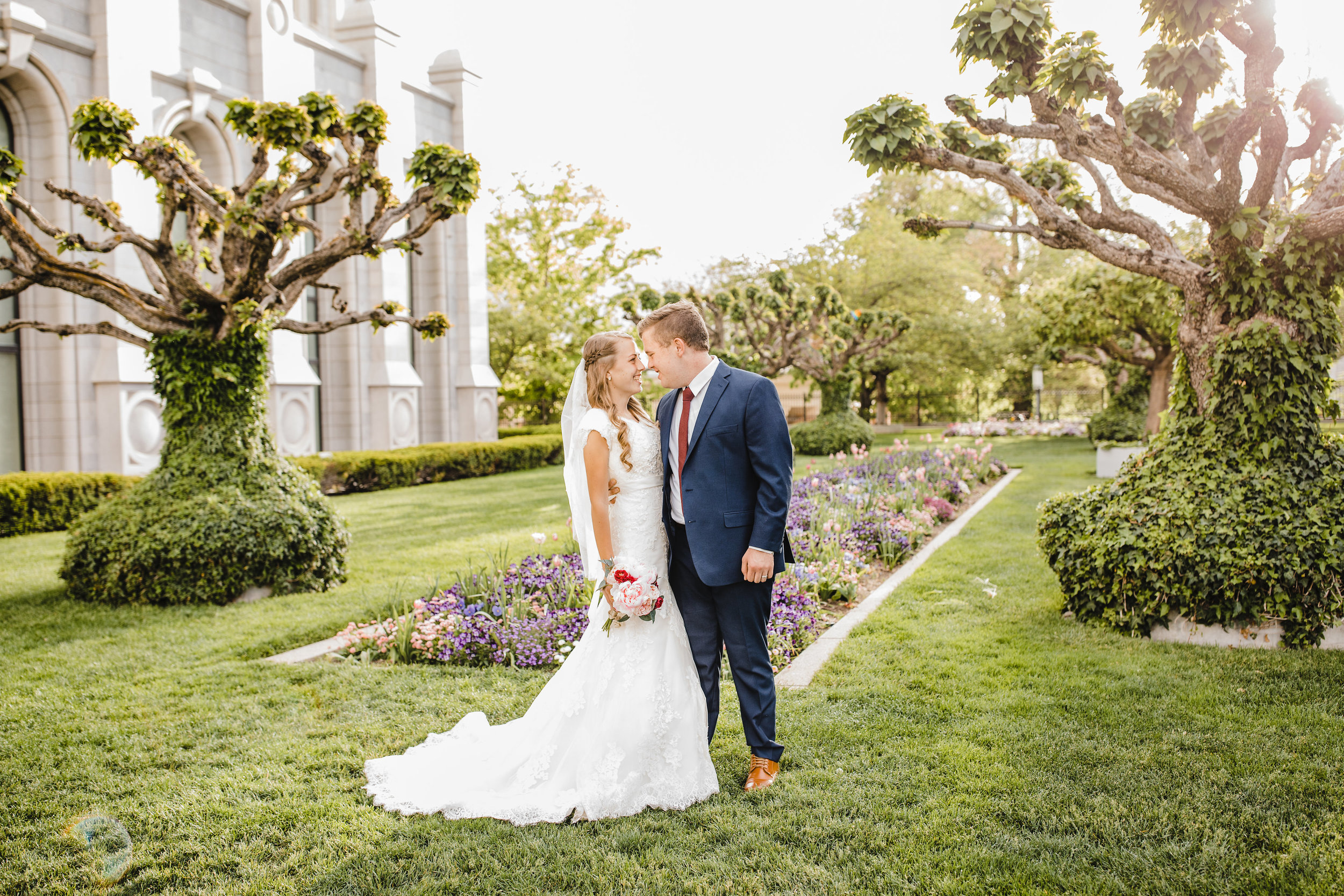 professional wedding photos arvada colorado bride and groom temple grounds light and airy natural editing arvada co