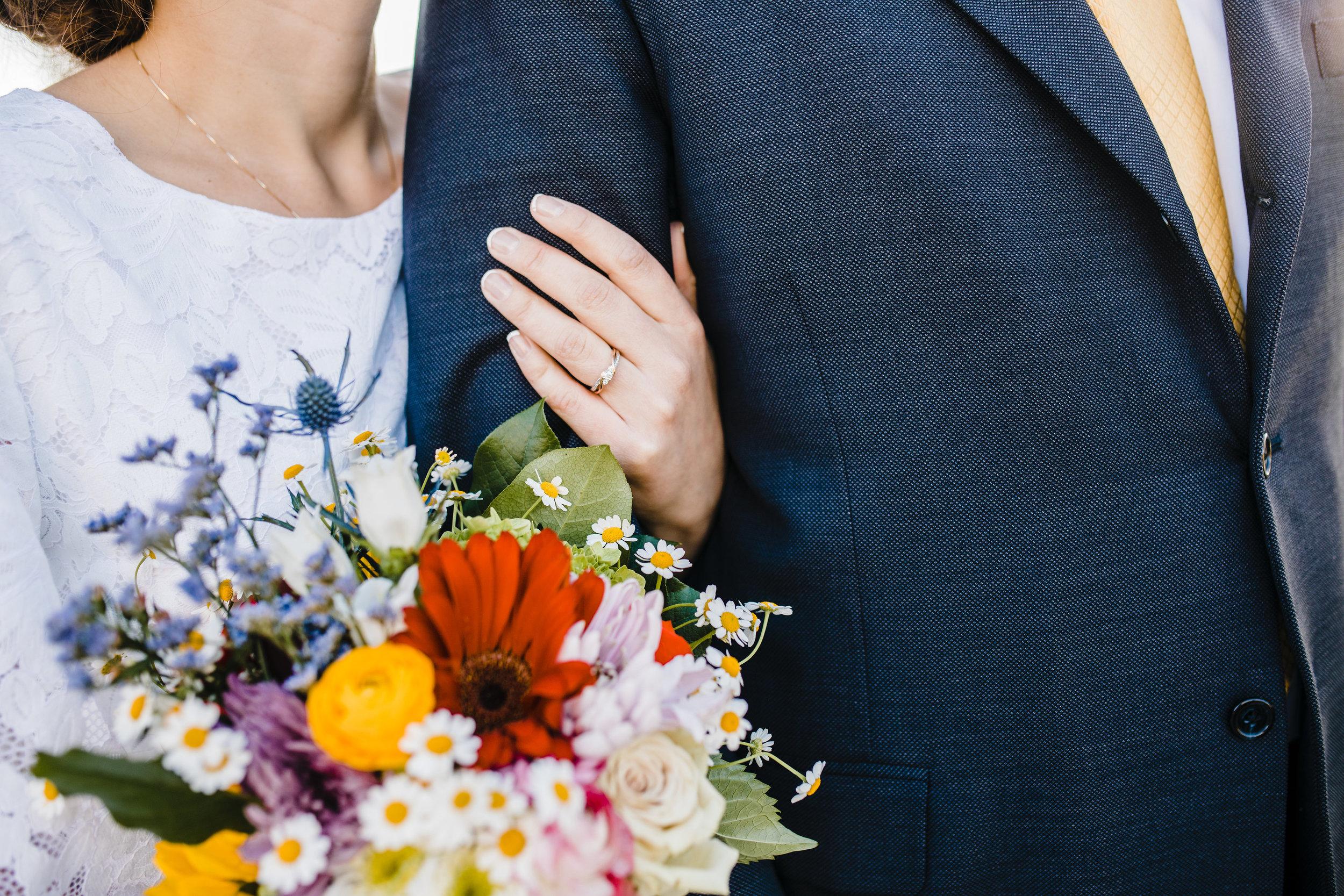 romantic adventurous wedding day photography in arvada colorado calli richards bouquet shot