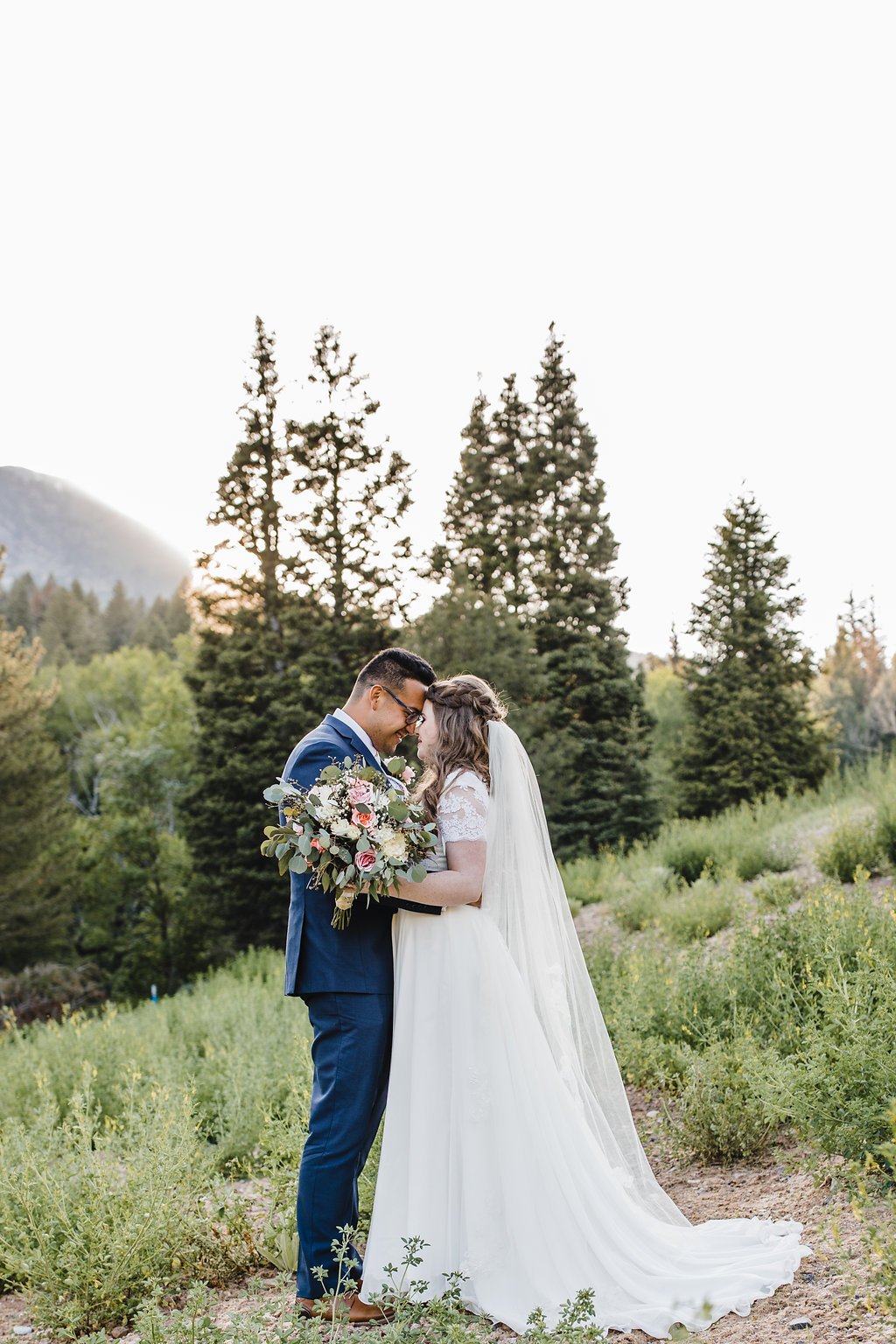 bride and groom forest provo utah wedding photographer calli richards
