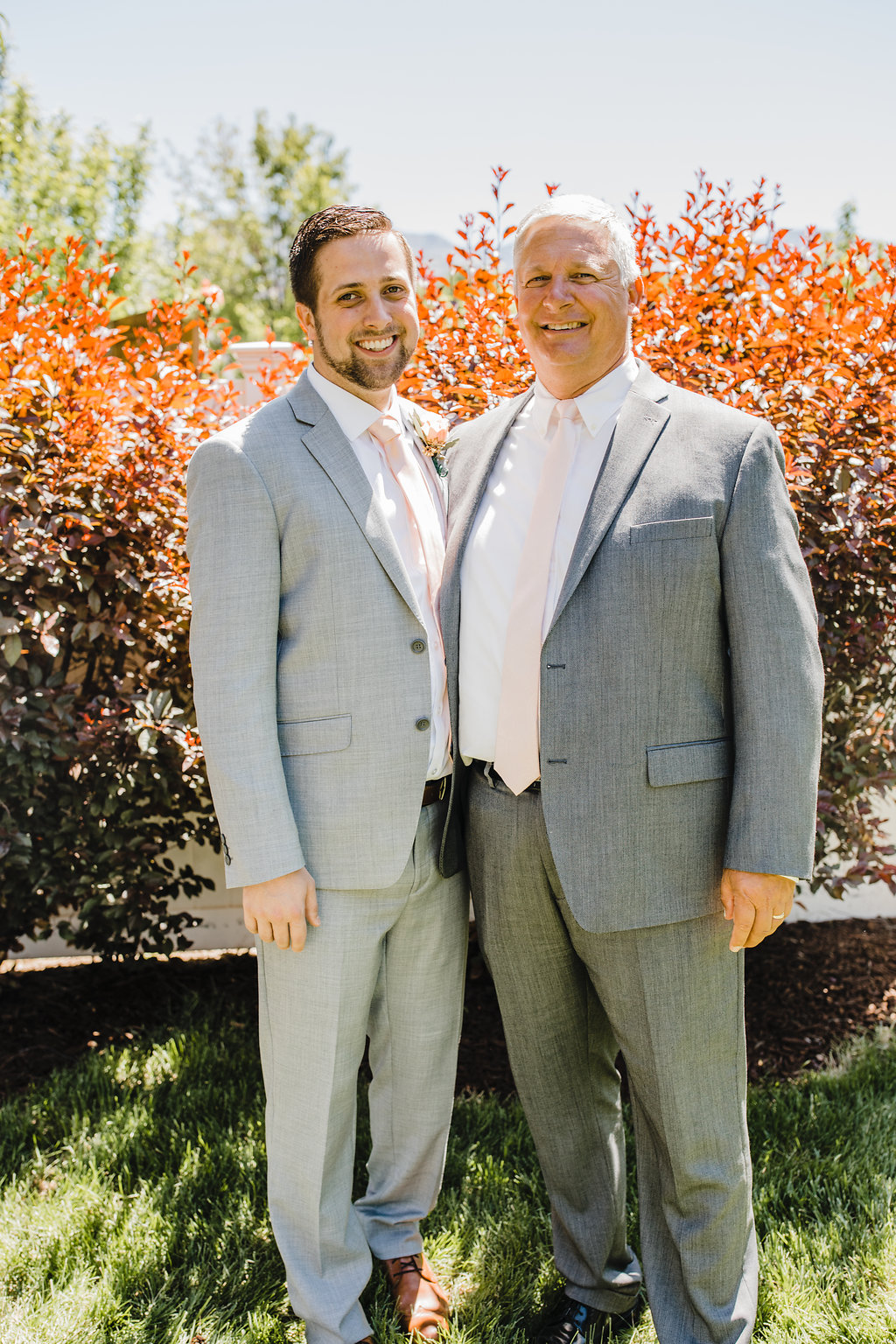 groom and father wedding day photography family photos grey suits central utah wedding photographer calli richards