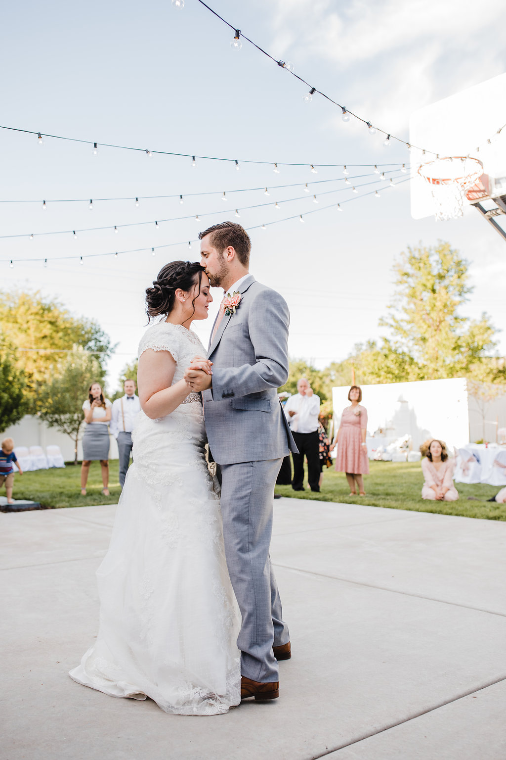 first dance as husband and wife wedding day first dance bride and groom central utah wedding day photography