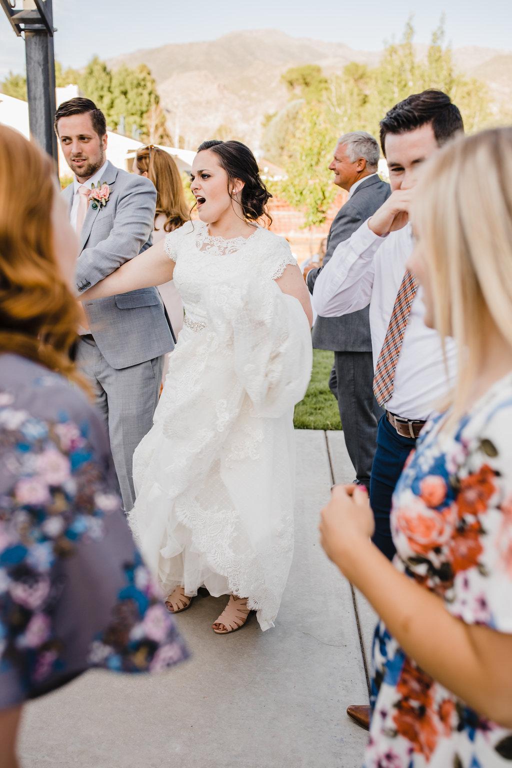 bride dancing wedding reception dance party central utah professional wedding photography