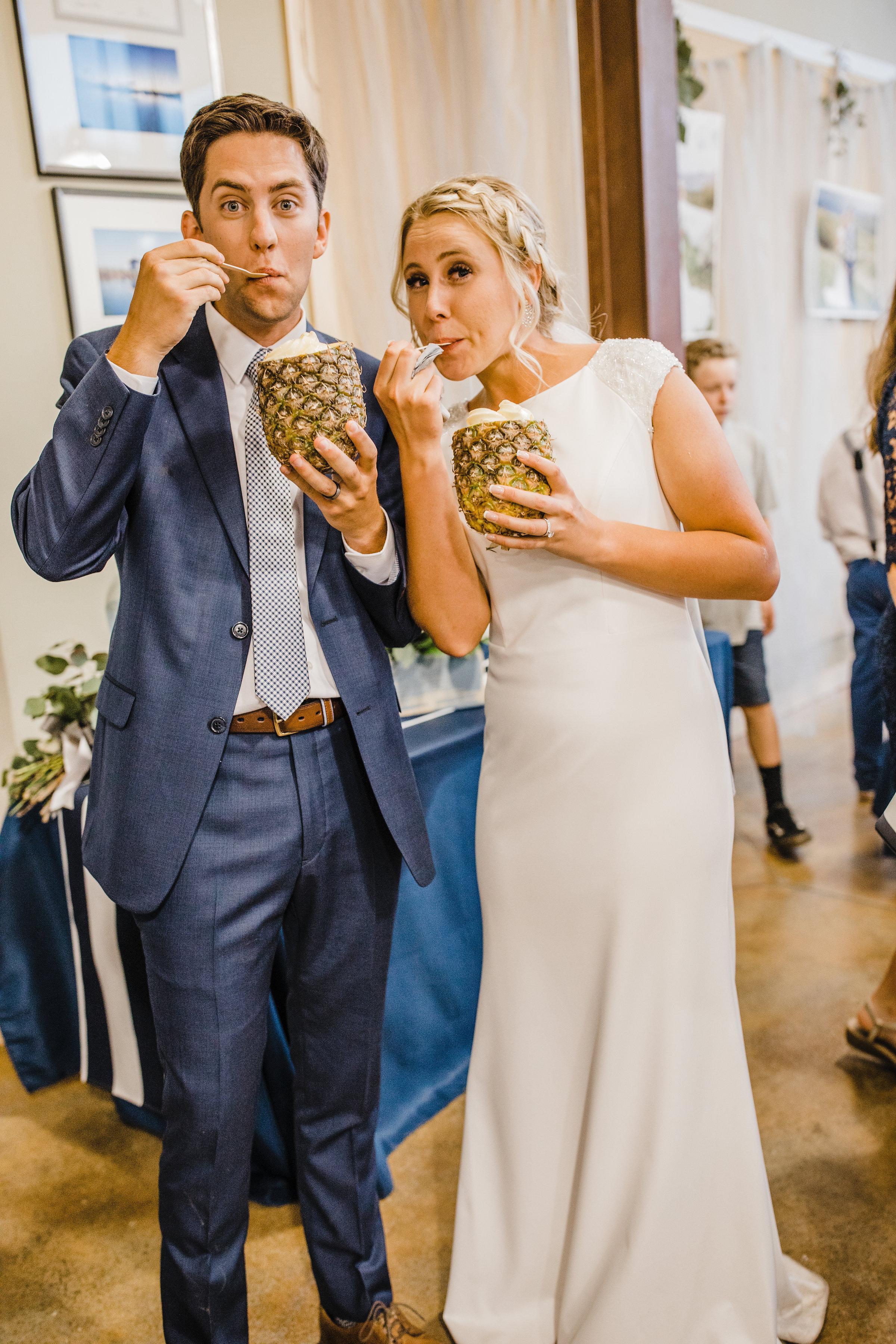 wedding photographer in salt lake city happy dole whip reception