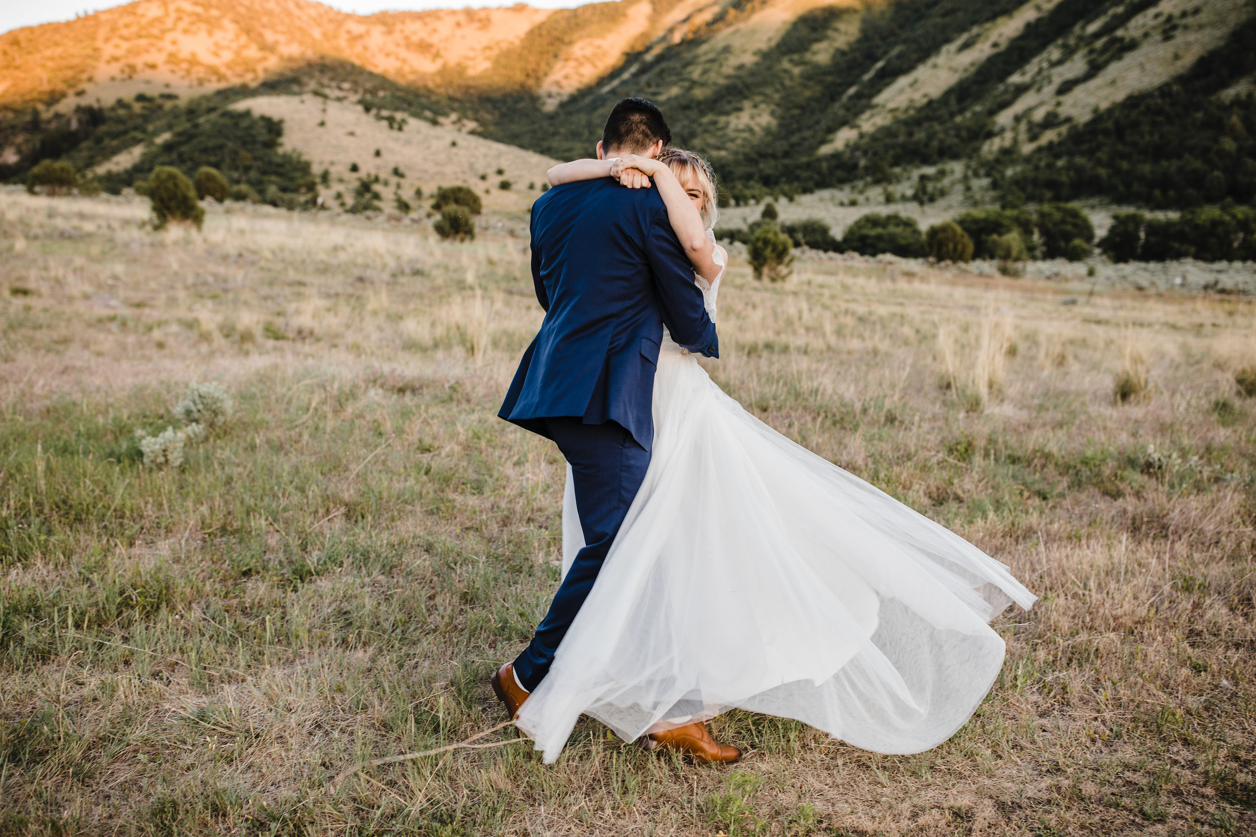 logan utah wedding photographer spinning laughing dancing mountain formals