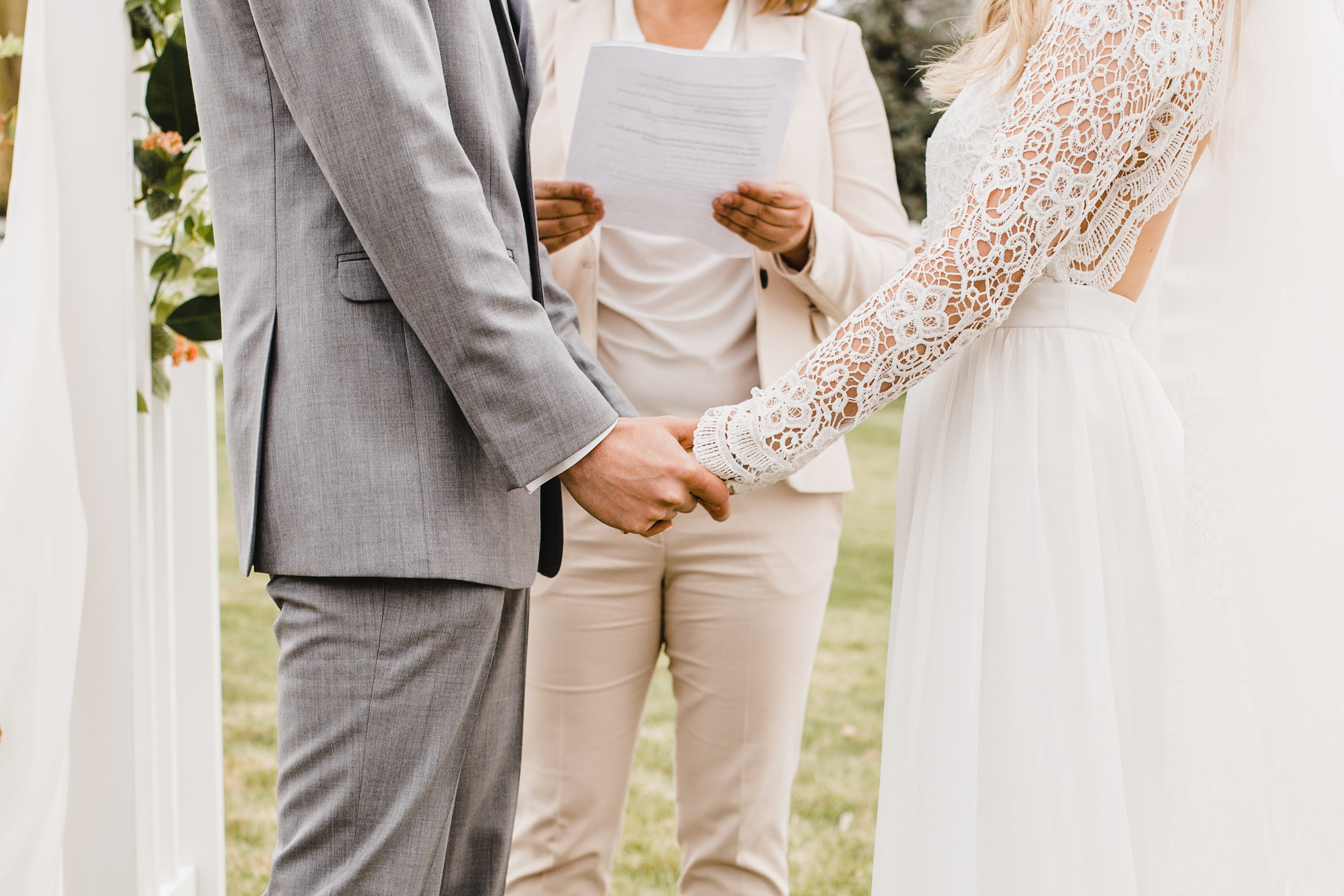 san diego wedding photographer ceremony outdoor holding hands