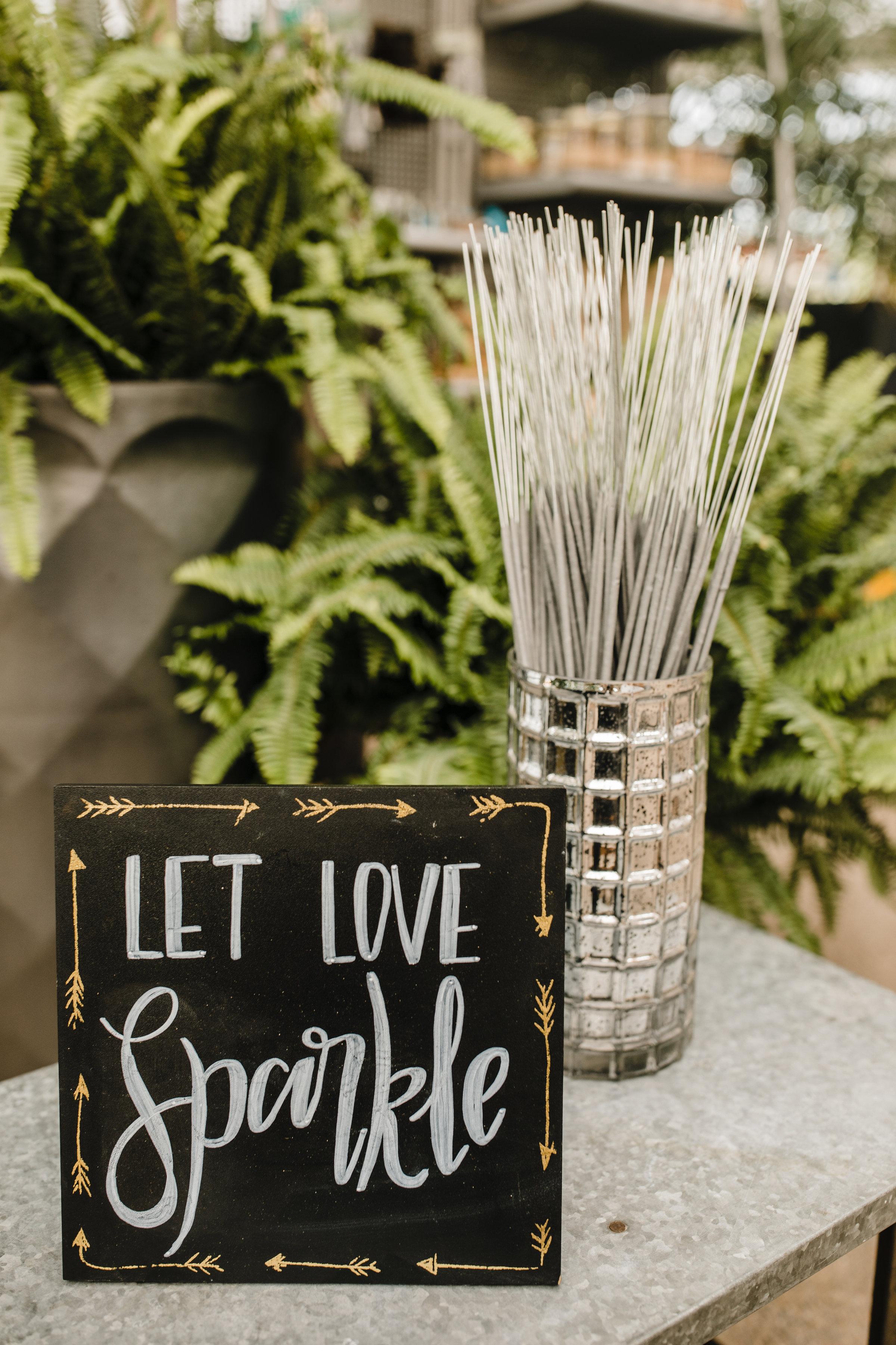 utah valley wedding photographer botanical reception sparklers let love sparkle