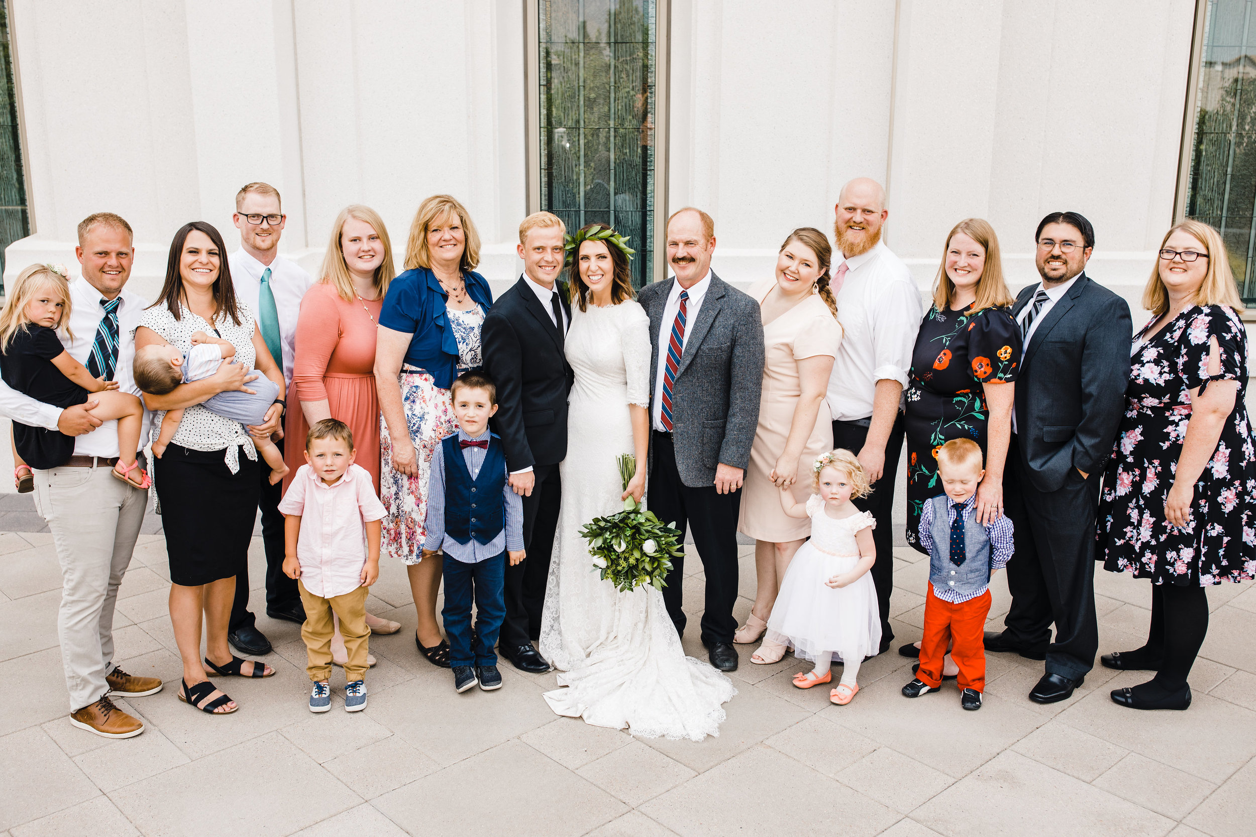 brigham city wedding photographer family photos floral crown temple lds