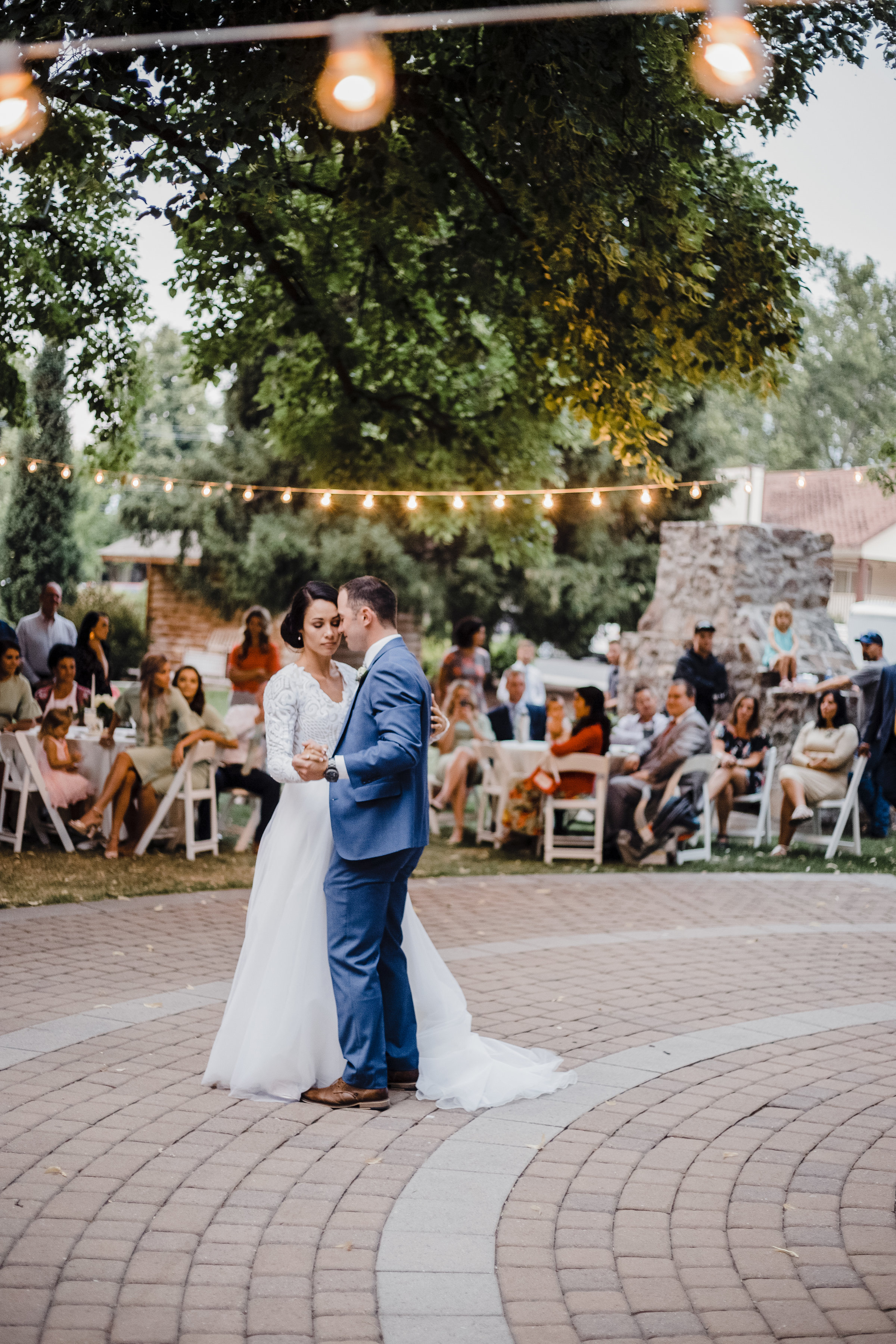 first dance newlywed couple on the dance floor wedding reception bride and groom dance