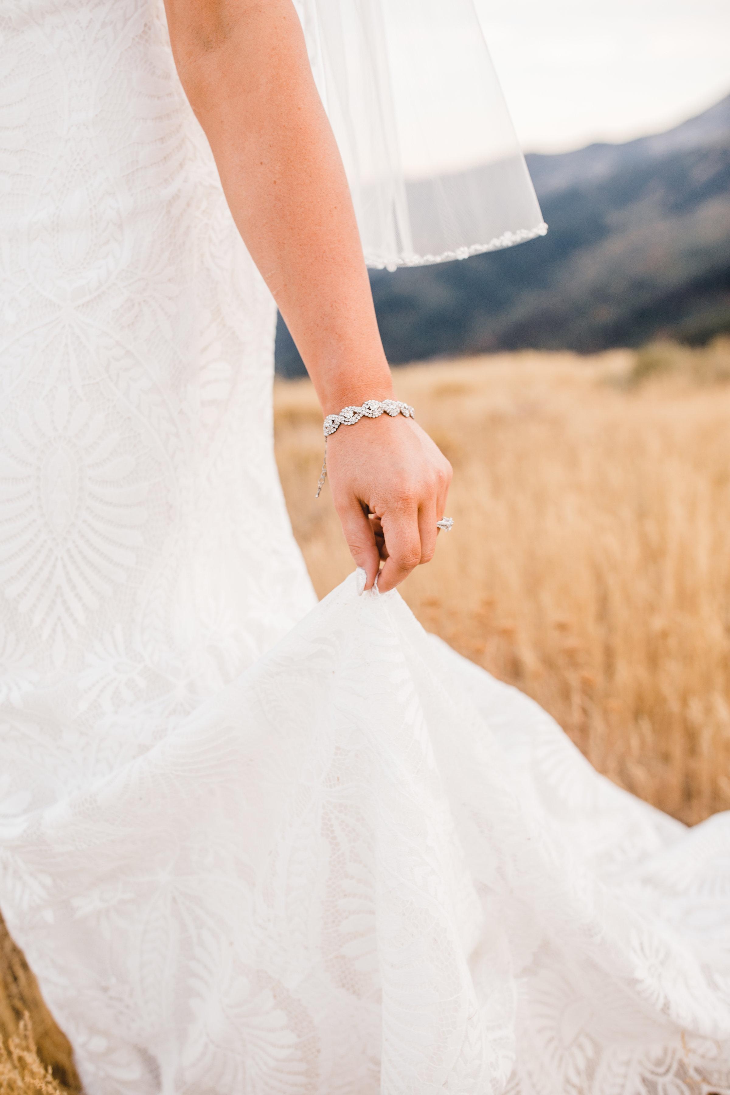 logan utah professional formal photographer diamond bracelet details