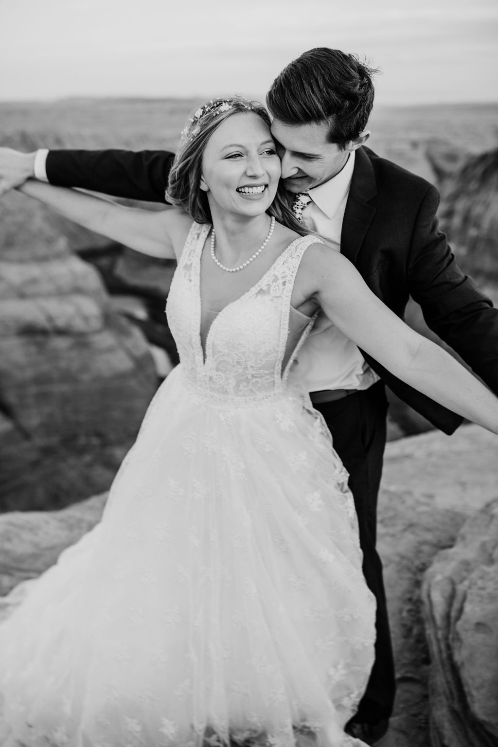professional page arizona formal photographer holding hands cliff smiling happy playful
