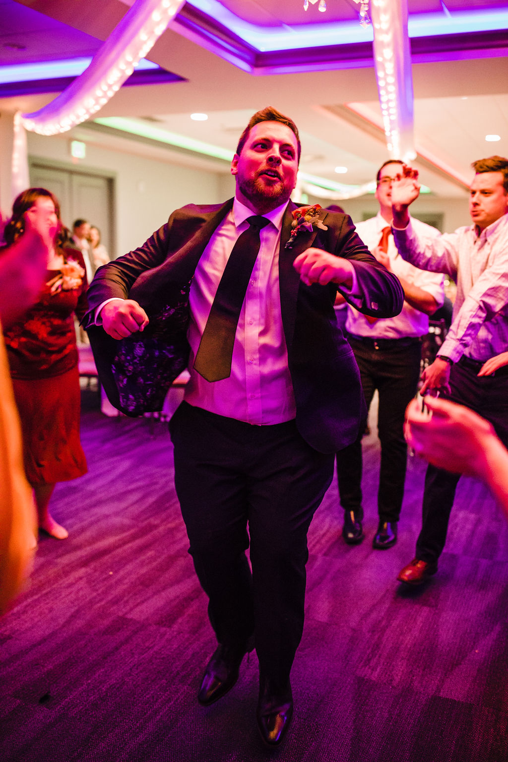 reception dance floor groom happy ogden utah wedding photographer happy