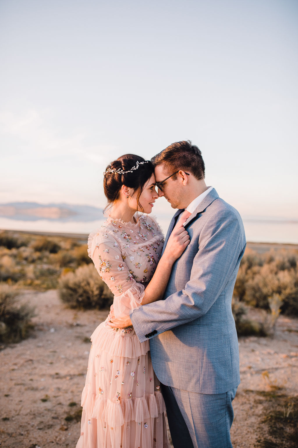 romantic wedding photos on antelope island calli richards best salt lake city wedding photographer formals session