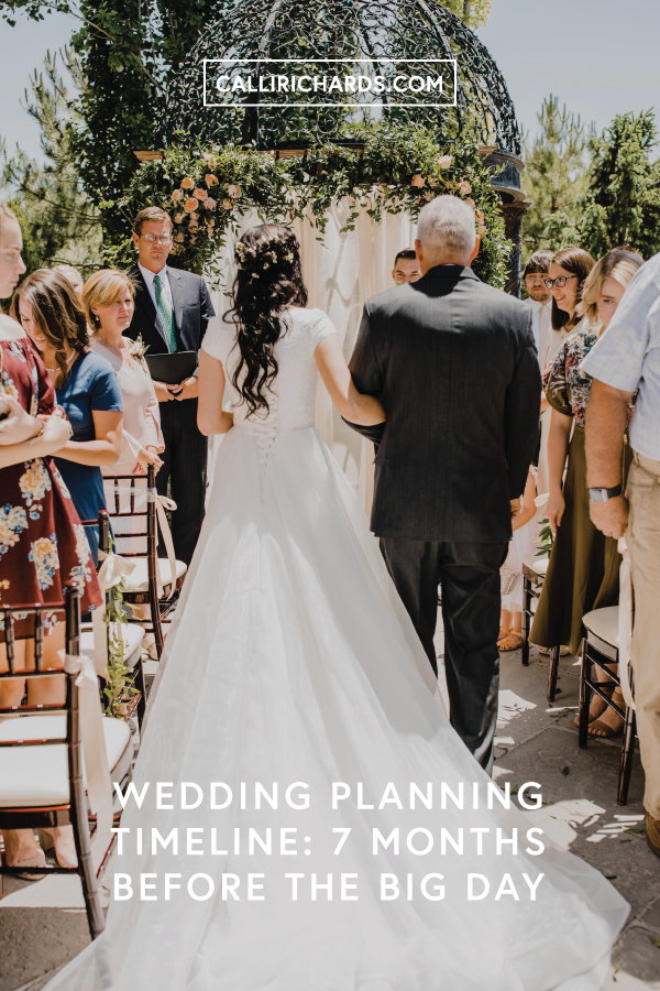 checklist wedding planning items seven months before your wedding