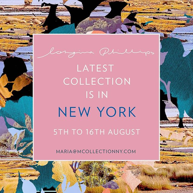 August starts with a beauty @longinaphillipsdesigns arrives today for 2 weeks❤️#textiledesign #trendspotting #fashiontrends #homedesign #magnoliahome #wgsnlifestyle #madeinaustralia #newyorkagent
