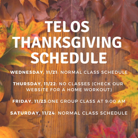 Thanksgiving Schedule for Tucson's Best CrossFit Gym