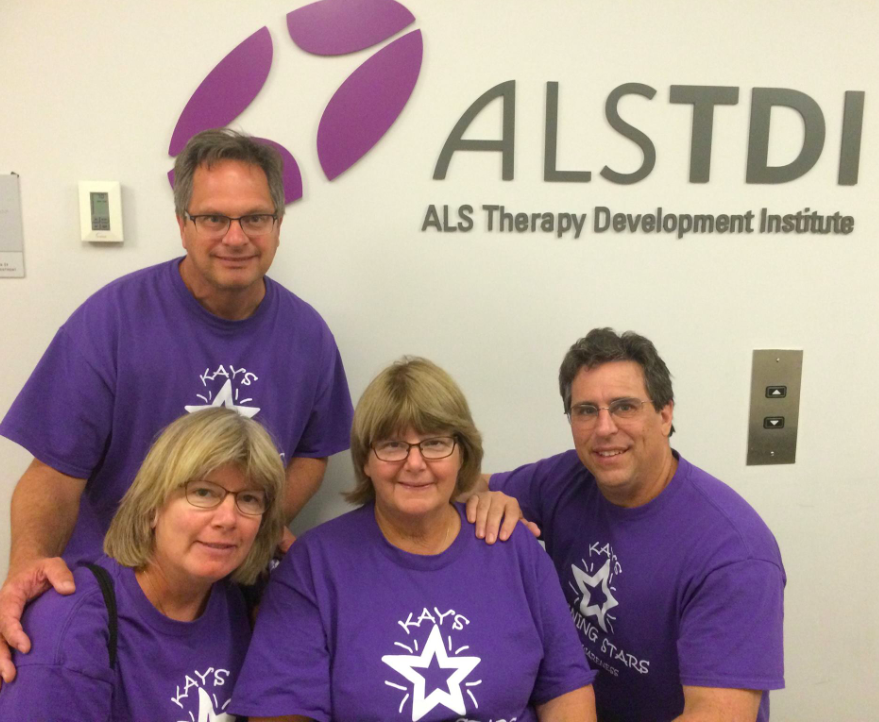 Kay Groll (with her husband, sister, and brother in-law) at ALS TDI in May 2015.