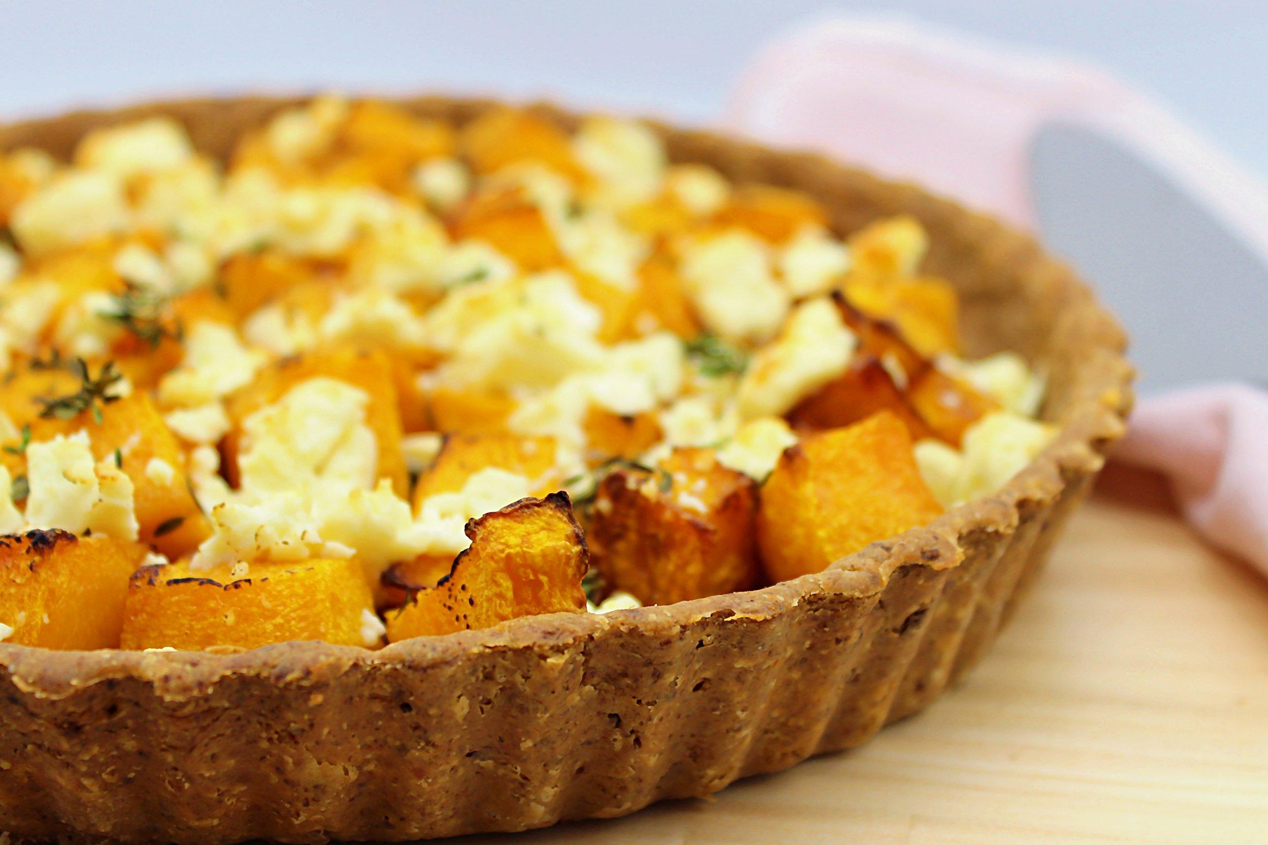 Roast Pumpkin, Caramelised Onion & Goat Feta Tart.jpg