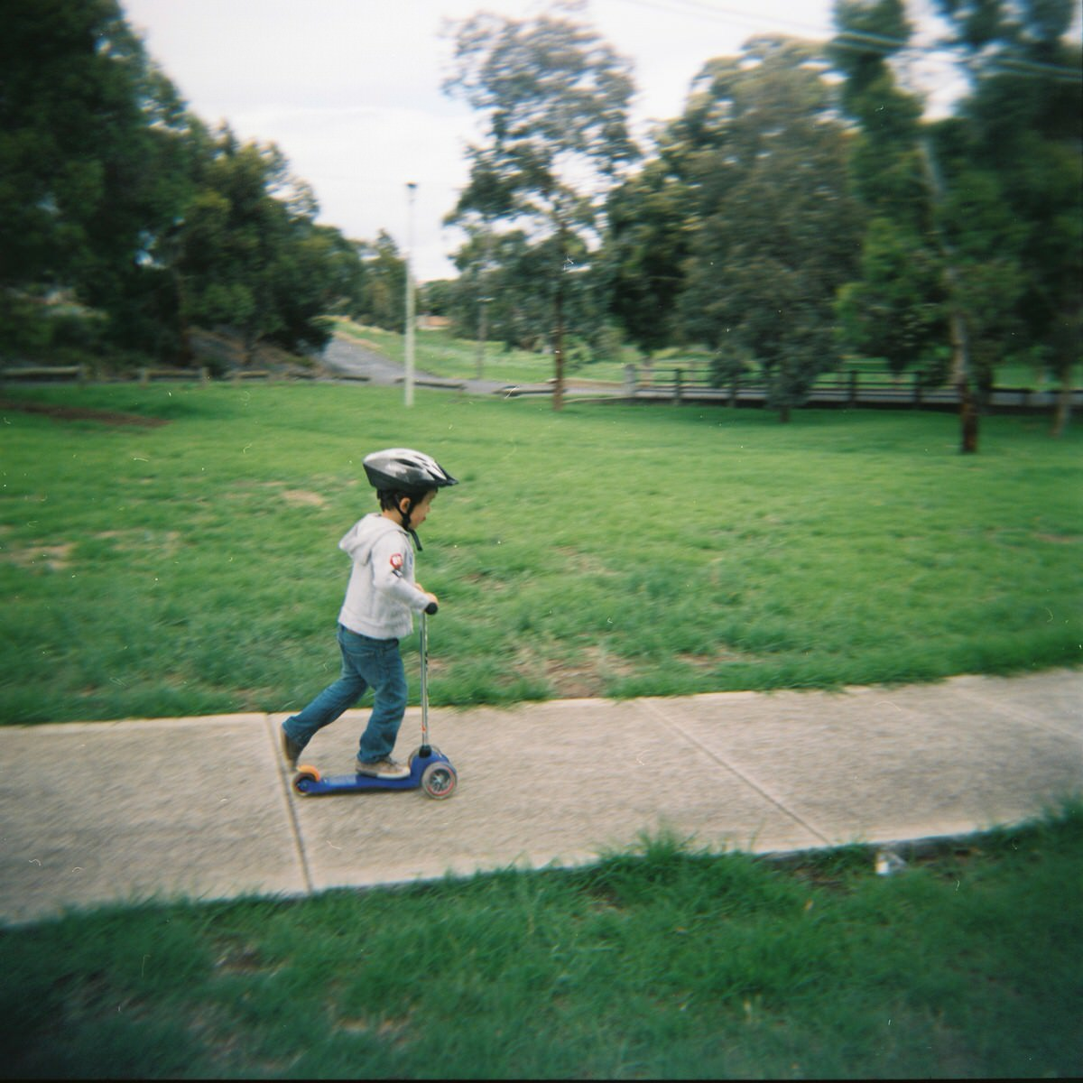 My son, Ruben. 4 years old. Taken on a Holga film camera.