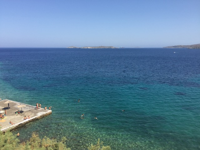 Asteria Beach where the open water swim sessions took place