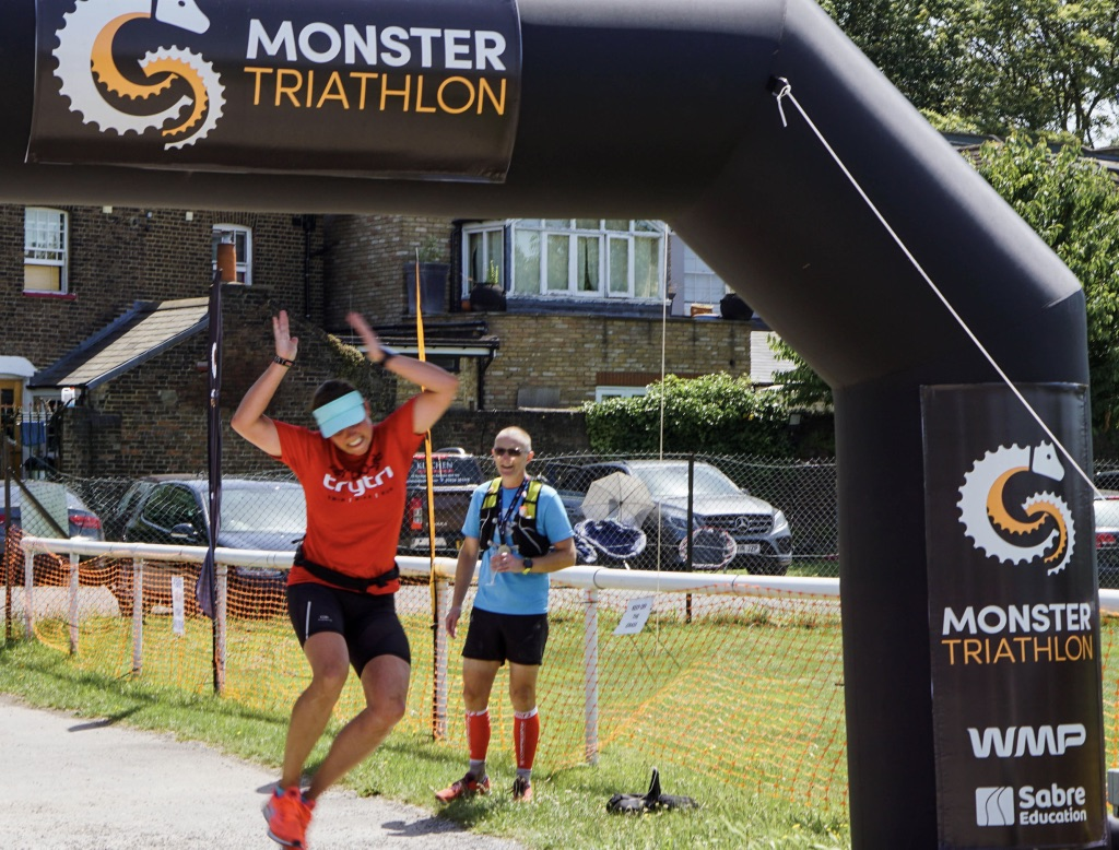 Now that is an unexpected finishing photo after traversing two countries!