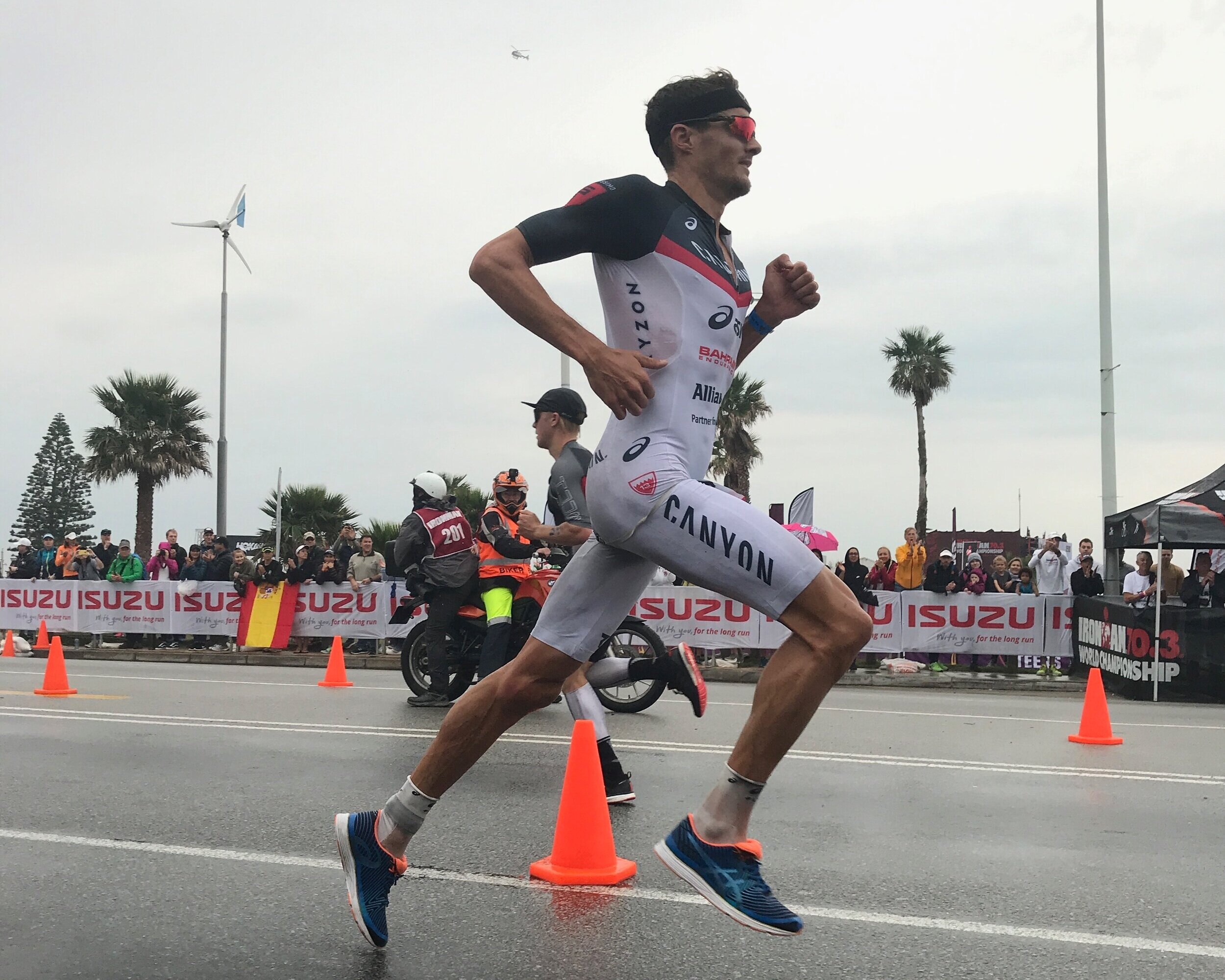 Jan Frodeno in the IRONMAN 70.3 Men's World Championship in Port Elizabeth, South Africa 2018