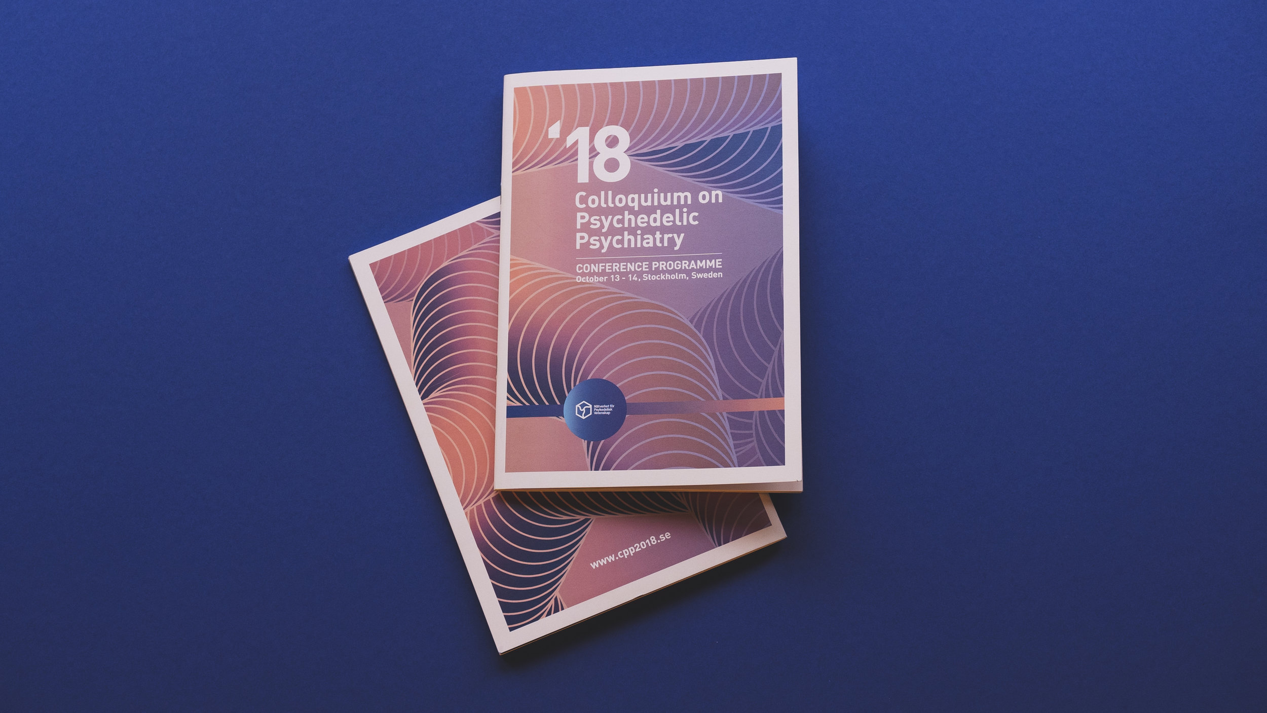Logo, brand guidelines, graphic design, web and more, for the first ever conference on Psycedelic Psyciatry in Sweden. for more info:  http://www.cpp2018.se  and  http://www.psykedeliskvetenskap.org/  Made by Flykten från Verkligheten Outdoor productions.