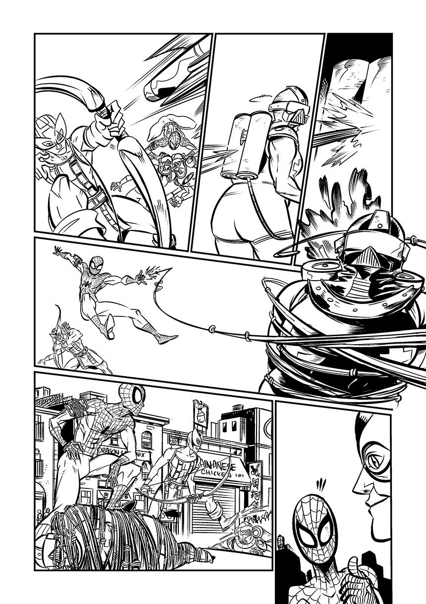 marvel comics hawkeye spiderman comics portfolio samples