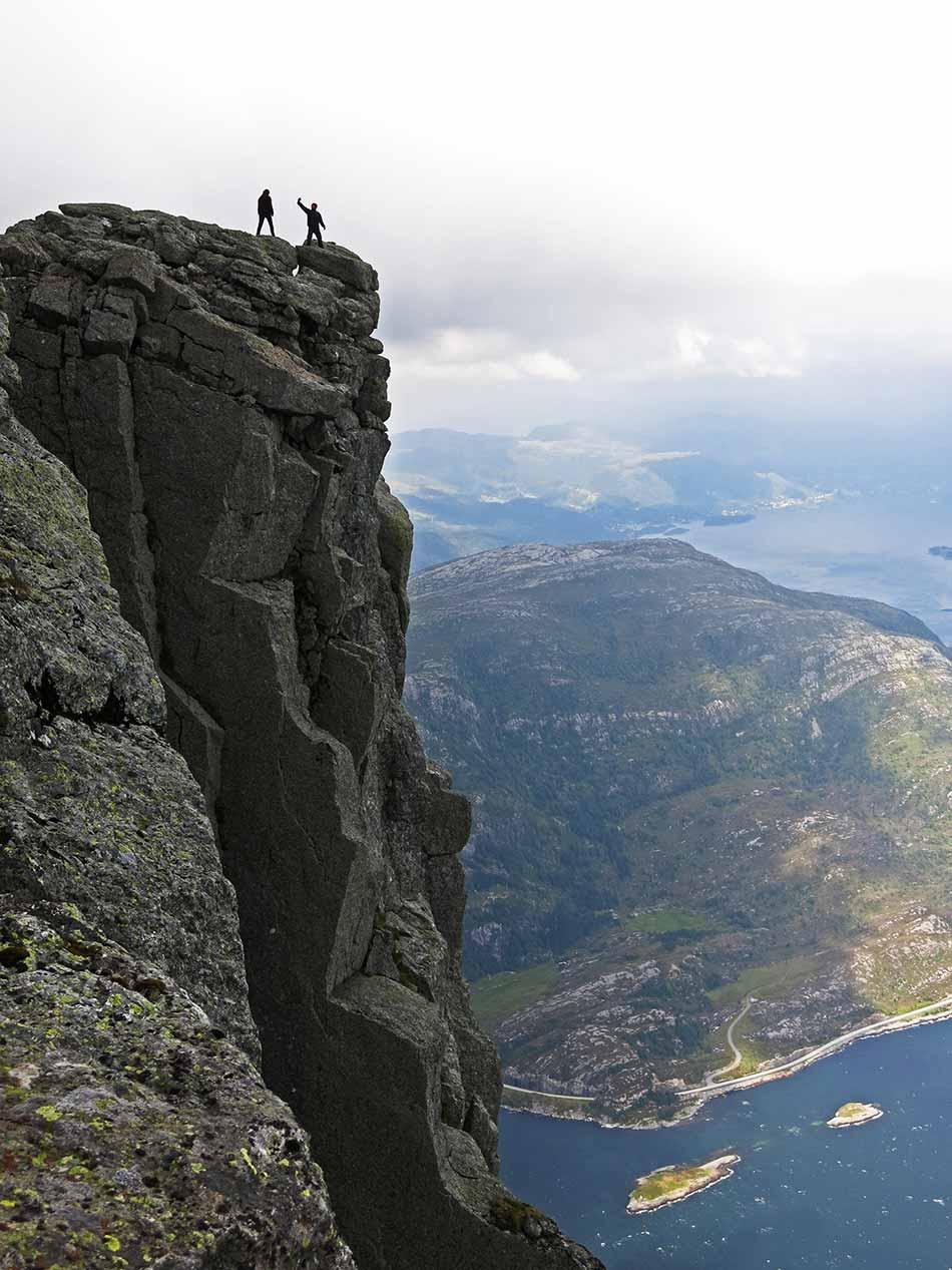 OPPLADING:  Hornelen er god opplading til storturen over Ålfotbreen.