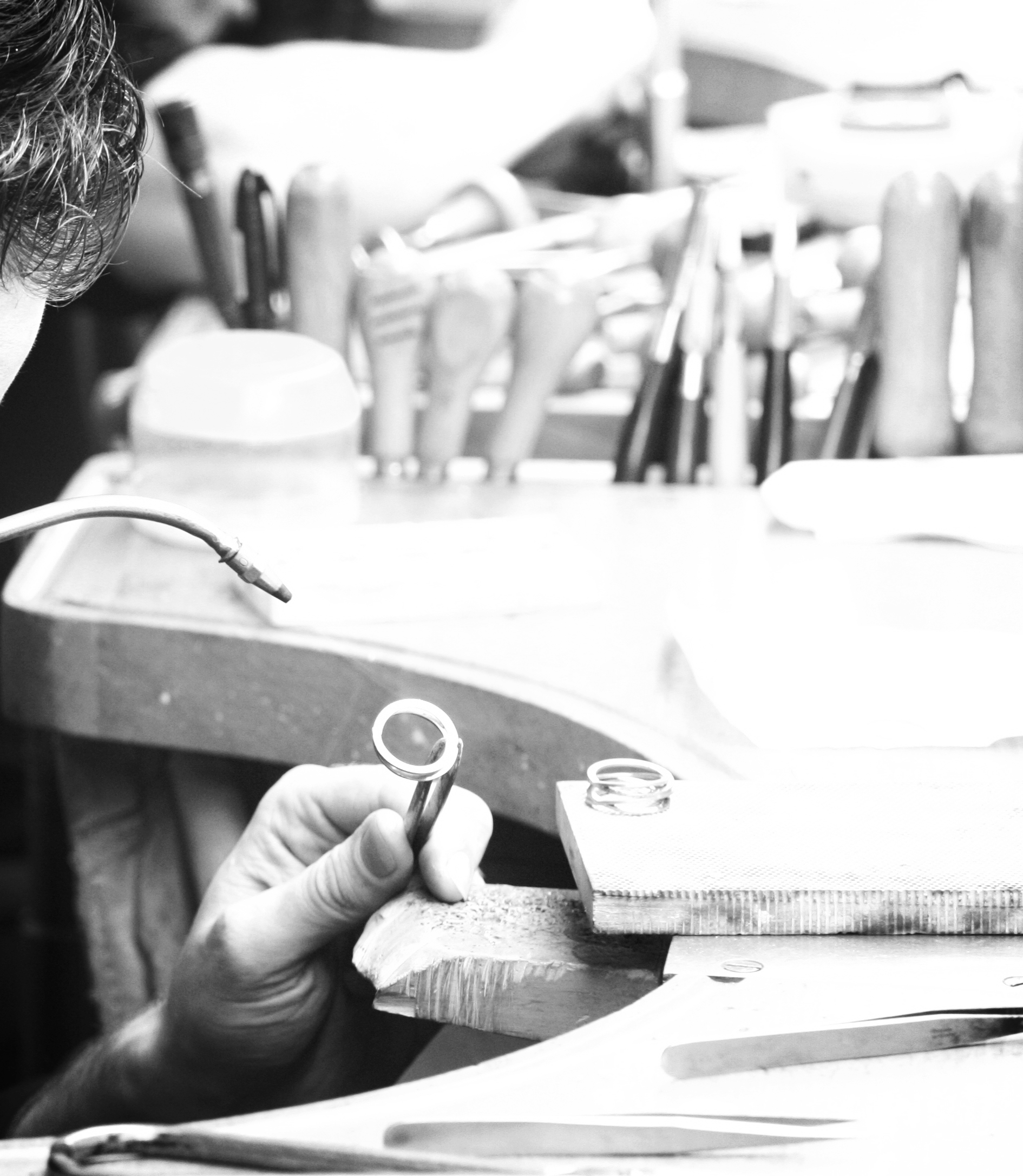 How does this work? - You start by making an appointment with the jeweler. Here we discuss your wishes and expectations. During this discussion the jeweler makes some rough sketches or illustrates, using some diamonds or gem stones, how the jewel will look.Then we get to work. With a great eye for detail and with love for the craft, our master-goldsmiths create your jewel from scratch.Each part, no matter how small, is crafted entirely by hand.The final step is finishing: every detail is carefully finished and polished.After everything is finished and checked for quality, we notify you that your jewel is ready.Like all our jewellery, your bespoke jewel enjoys a lifetime warranty.