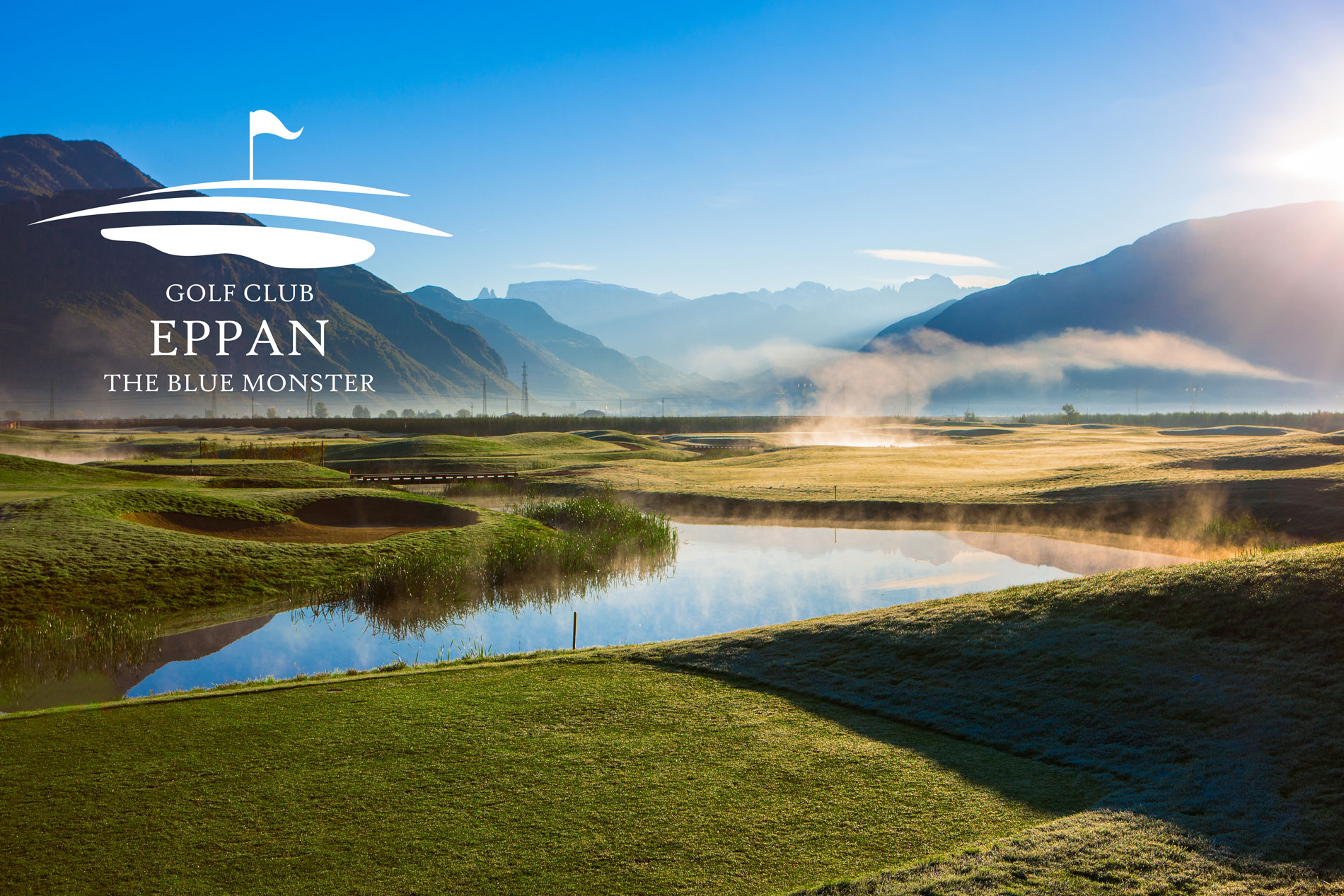 The place to be: Loch 7 im Golf Club Eppan Blue Monster - Machen Sie hier Ihr Selfie und teilen Sie Ihren Spaß mit anderen!