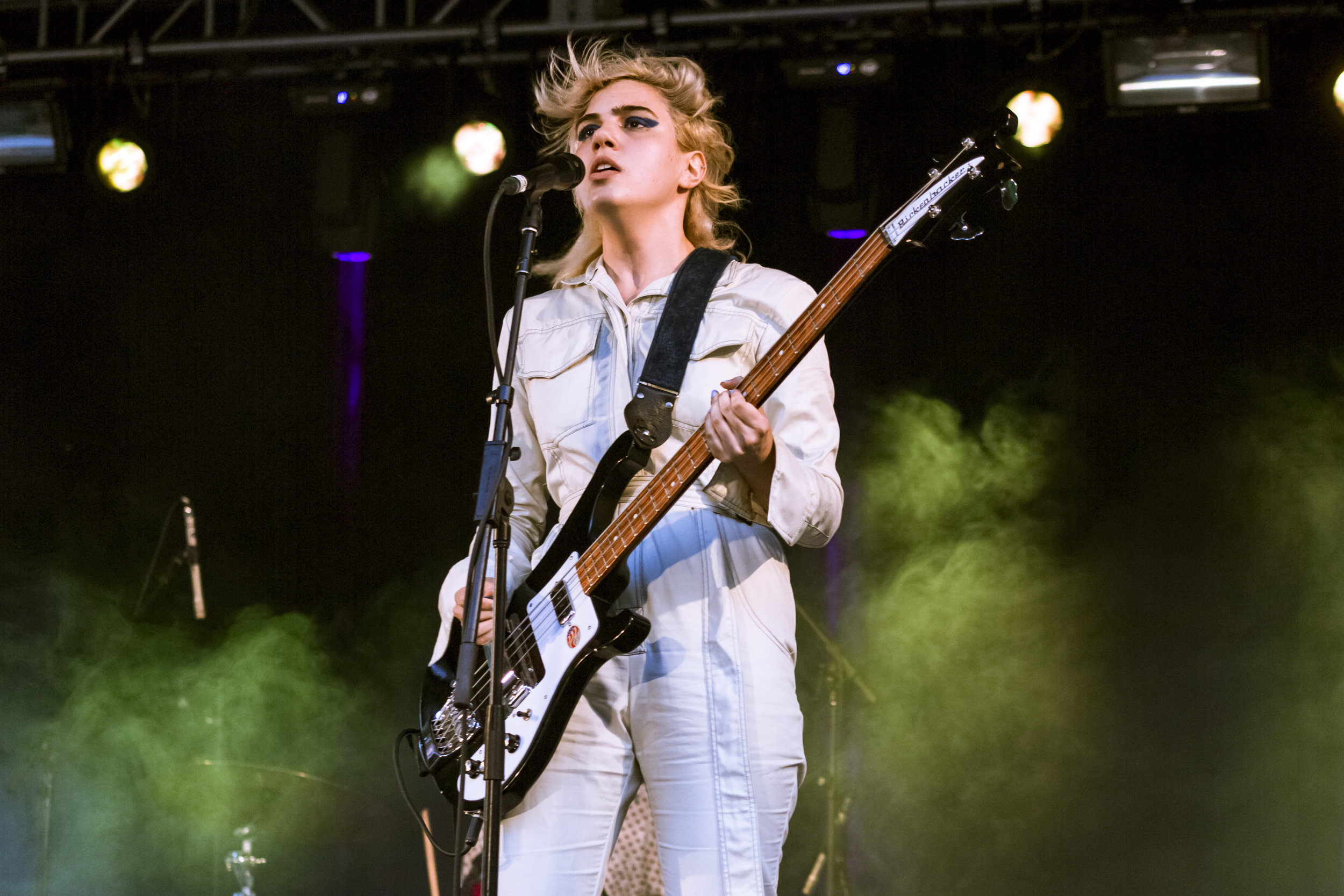 Sunflower Bean & Porches @ Summerstage NYC, 2018 - After a weekend of thunderstorms – some of many that can be expected during a New York summertime – the rescheduled free show featuring Sunflower Bean and Porches (casualty Crumb, who were on the original bill) raged at the East River Park amphitheatre in the Lower East Side.