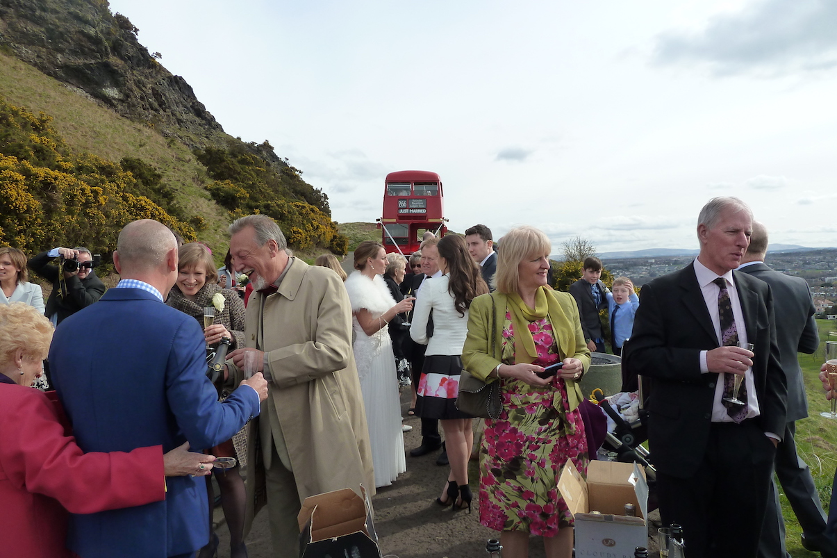 The Red Bus wedding party Edinburgh.jpg