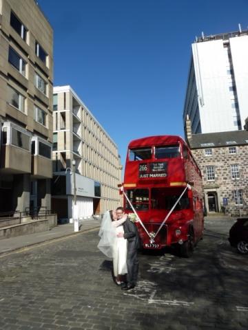 The Red Bus wedding couple.JPG