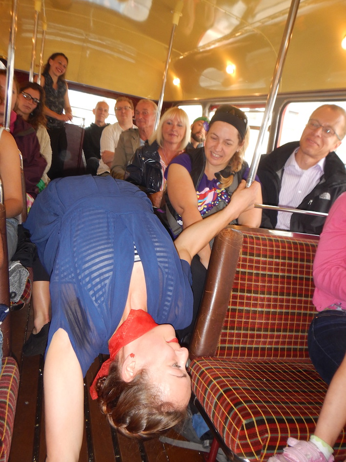 The Red Bus performer.JPG