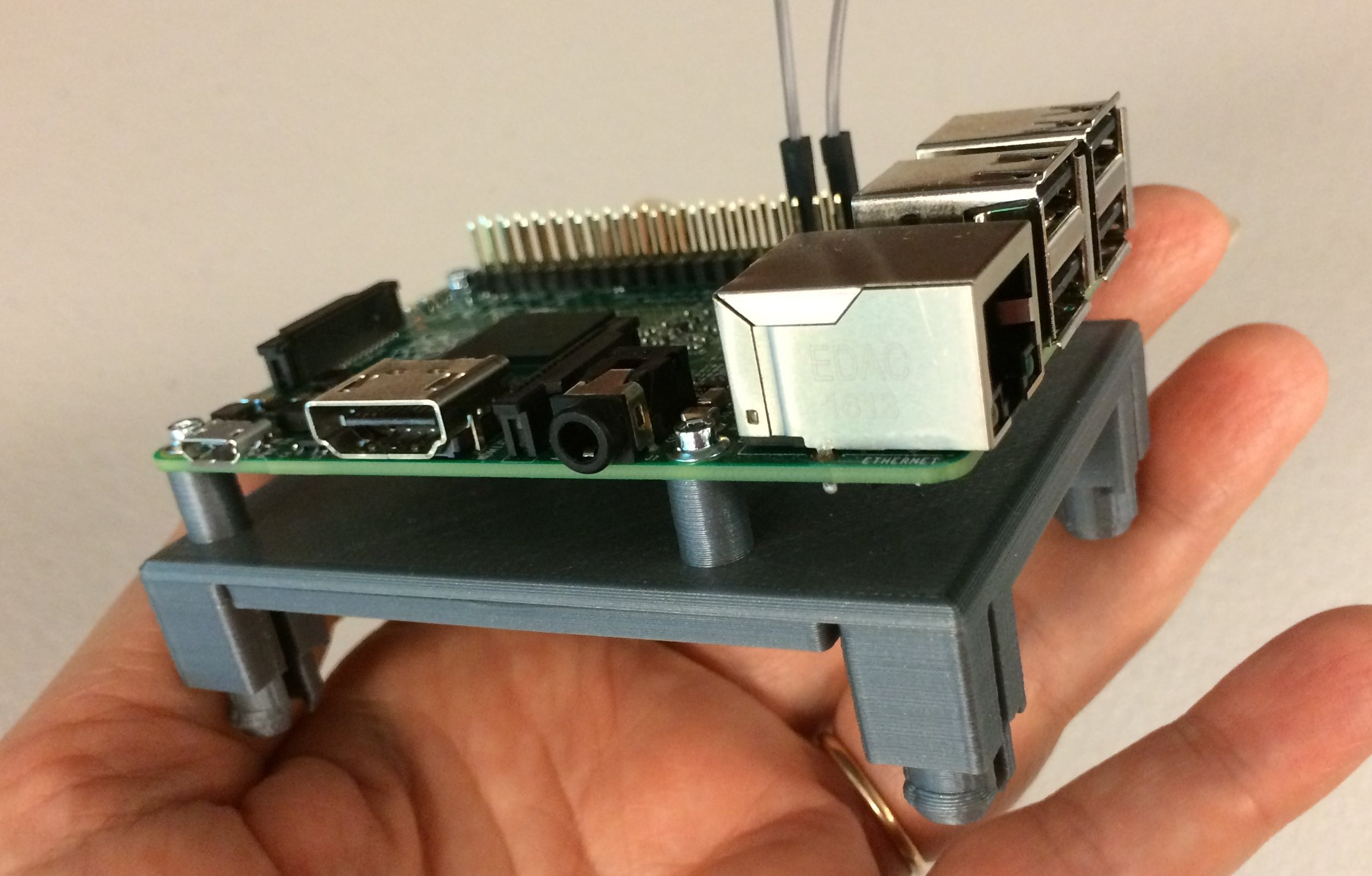 The Slide-mounted Pi is connected to the Click. Whoohoo! - See how easy that was?  The prep work is all done.  Now you will see how this makes your entire project so much more fun!