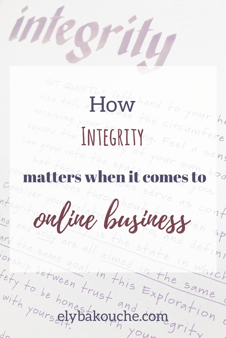 How integrity matters when it comes to online business