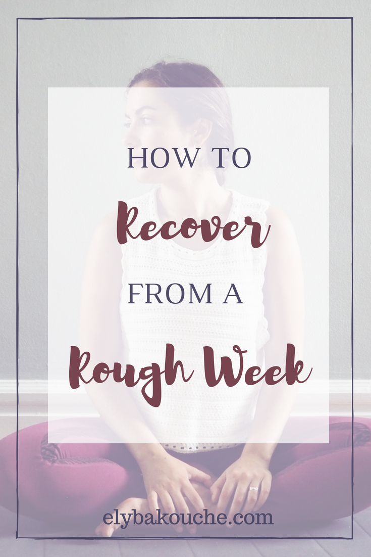 How to recover from a bad week - a yogi's guide
