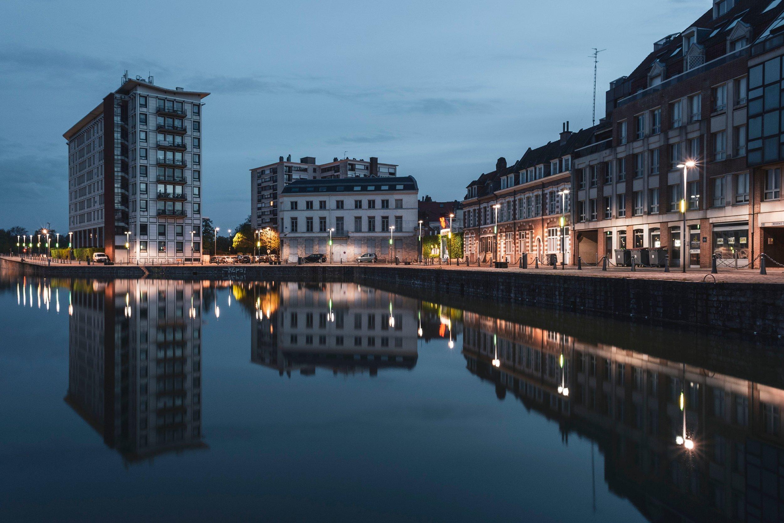 Quai du Wault in Lille, France. Photo by  Geoffroy Hauwen  on  Unsplash